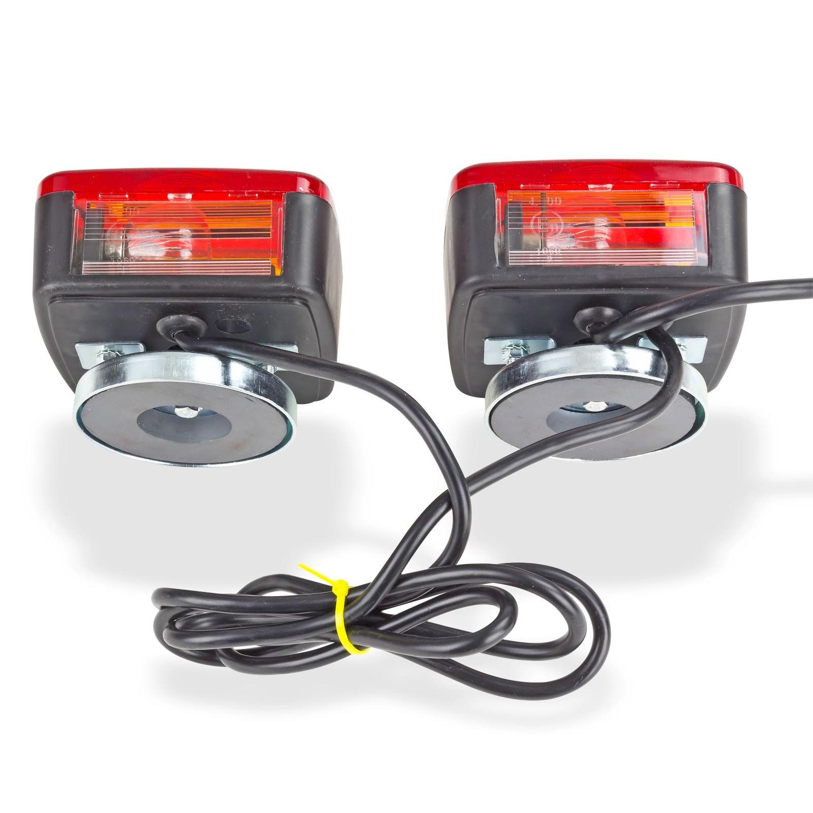 magnet beleuchtungssatz r cklichter beleuchtung 12v f r anh nger traktor ebay. Black Bedroom Furniture Sets. Home Design Ideas
