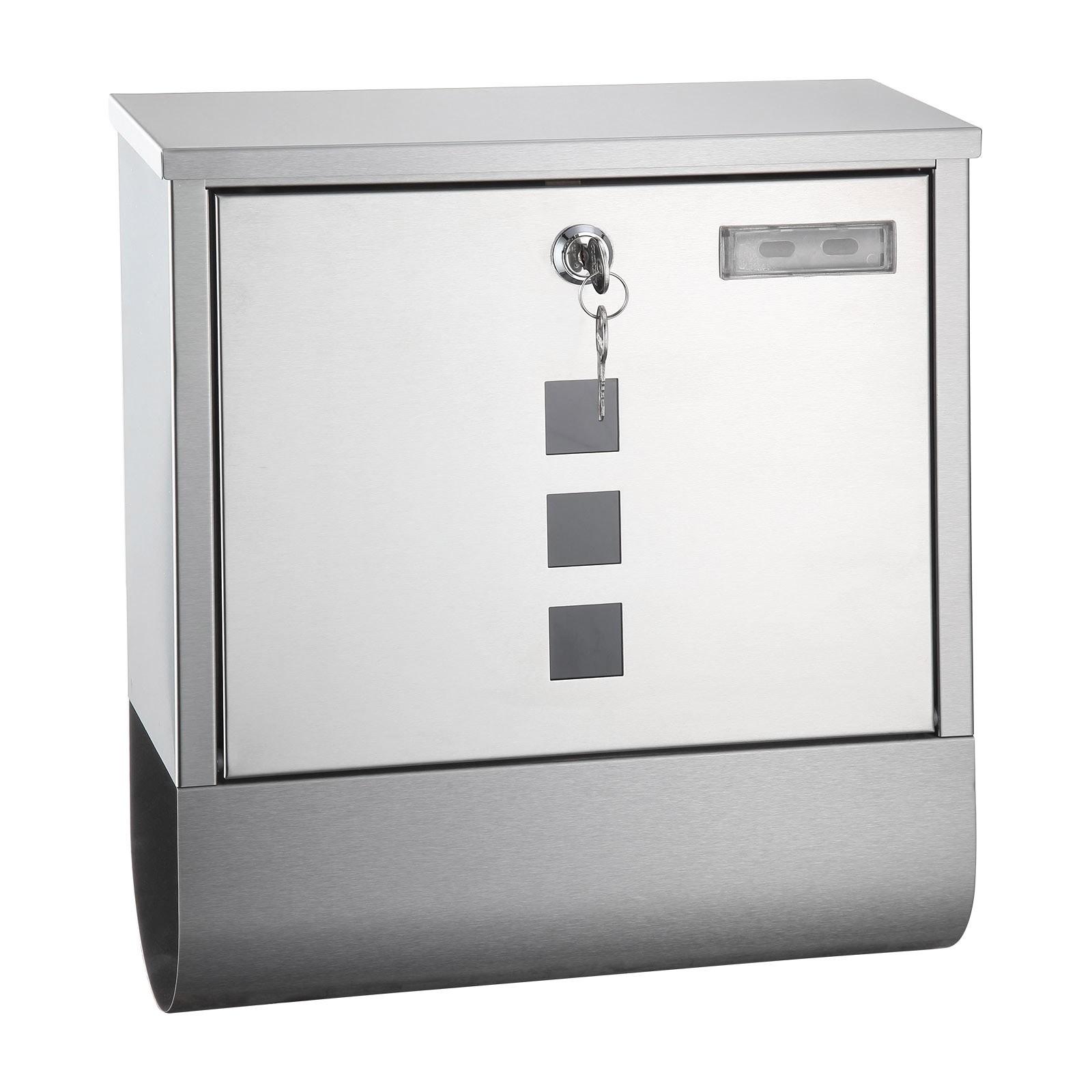 metall briefkasten oslo edelstahl design mit zeitungsrolle. Black Bedroom Furniture Sets. Home Design Ideas