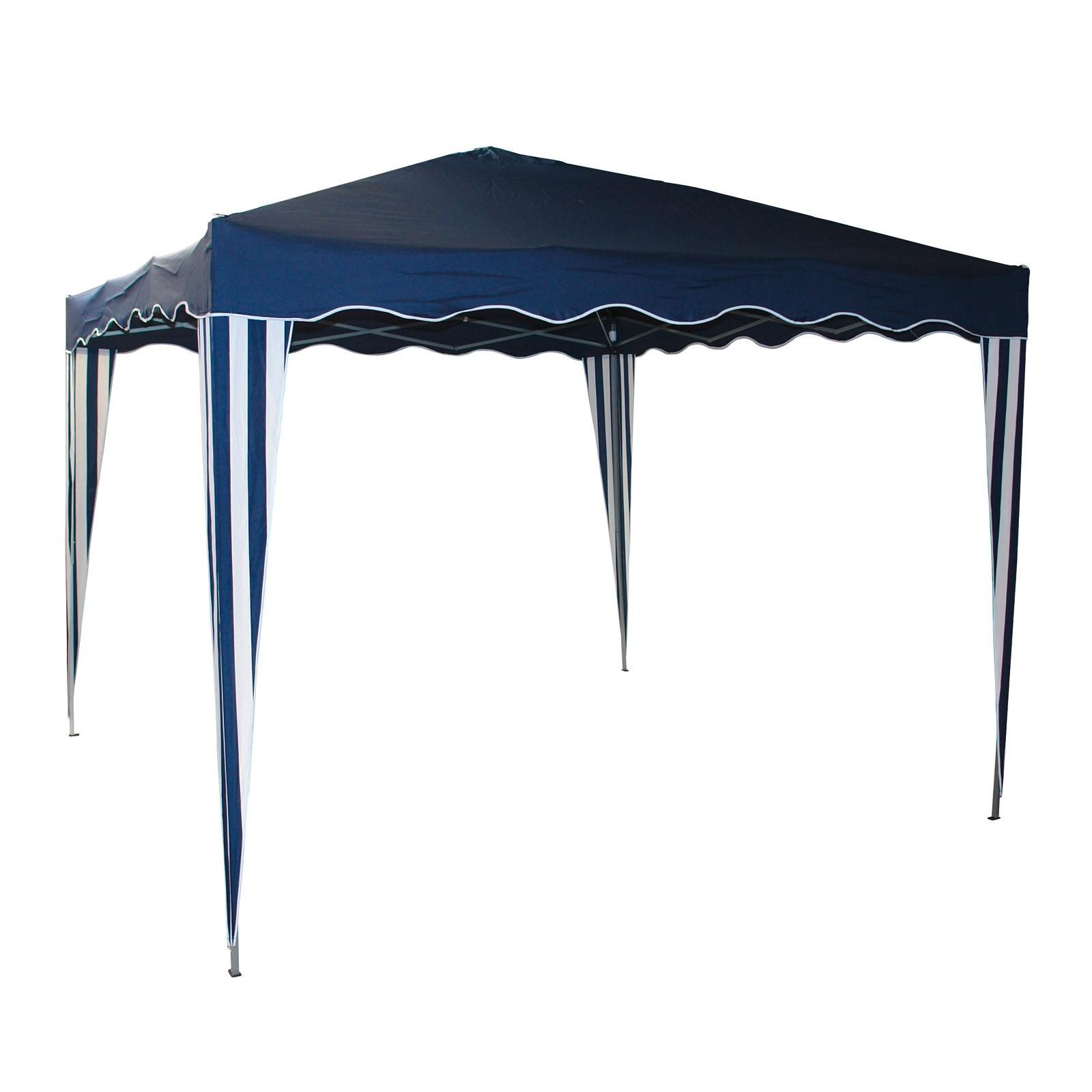 gartenpavillon faltpavillon alu metall 3x3 meter blau gartenzelt partyzelt ebay. Black Bedroom Furniture Sets. Home Design Ideas