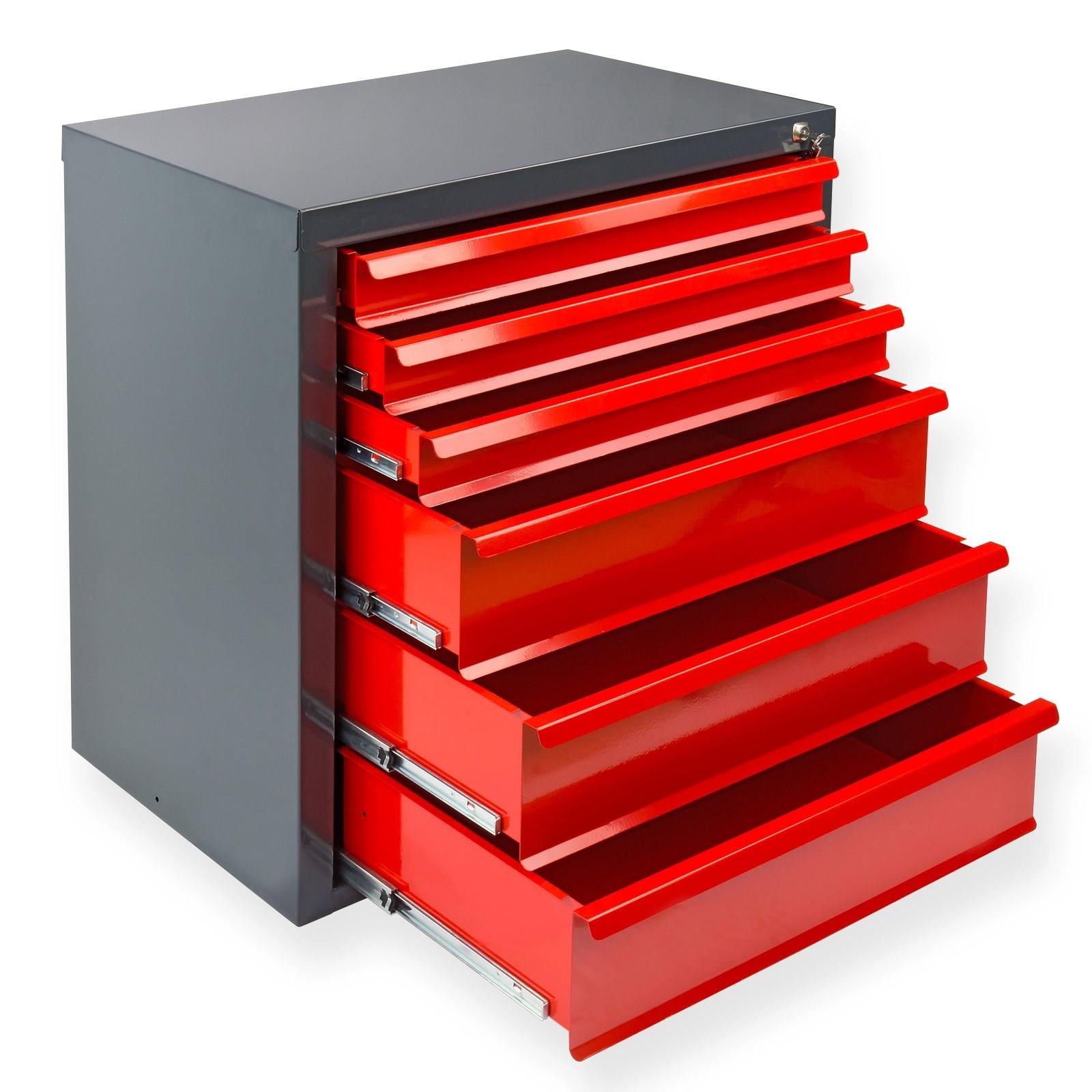 schubladenschrank metallschrank werkstattschrank fernando mit 6 schubladen ebay. Black Bedroom Furniture Sets. Home Design Ideas