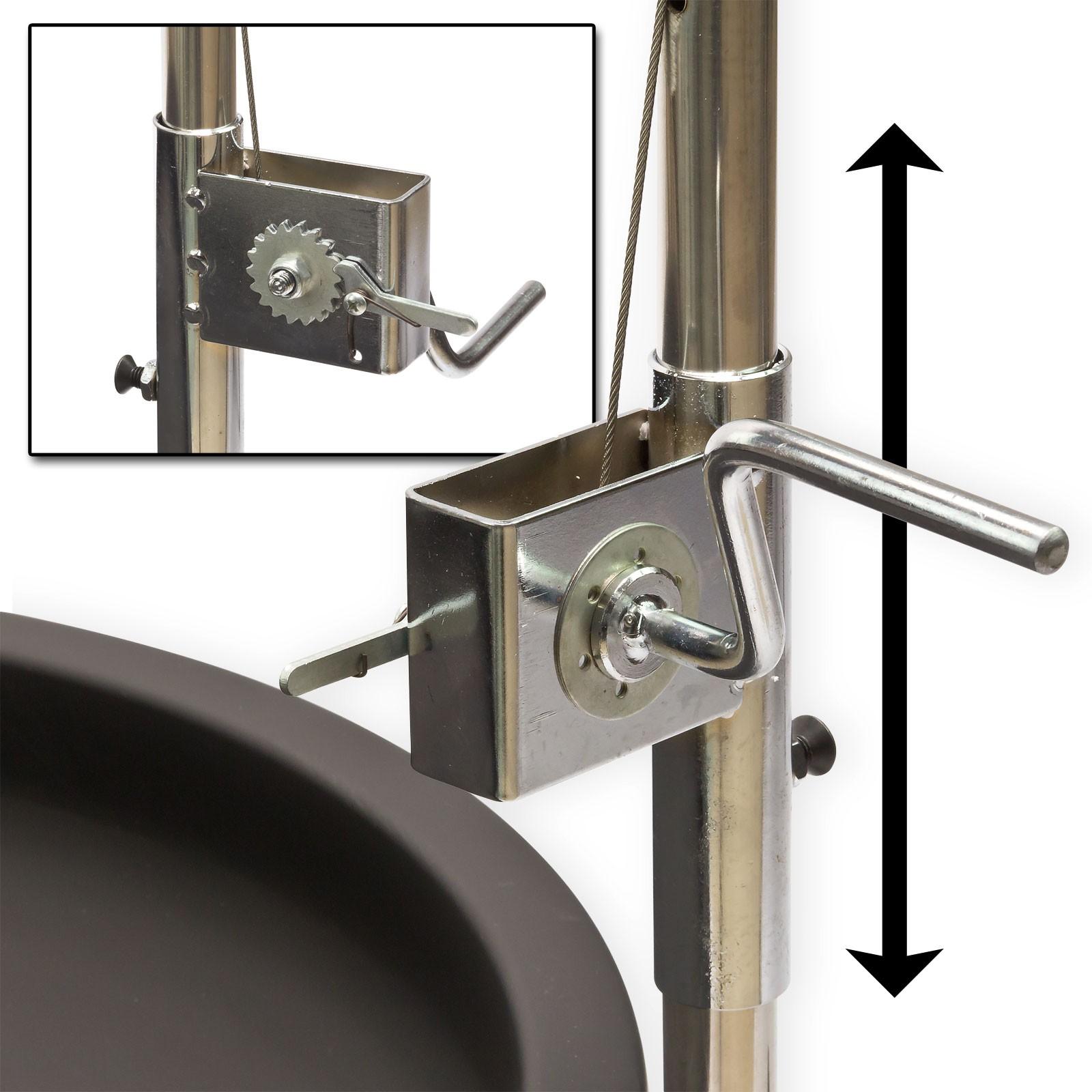 schwenkgrill holzkohlegrill 3 beinig 55cm grillrost edelstahl feuerschale ebay. Black Bedroom Furniture Sets. Home Design Ideas