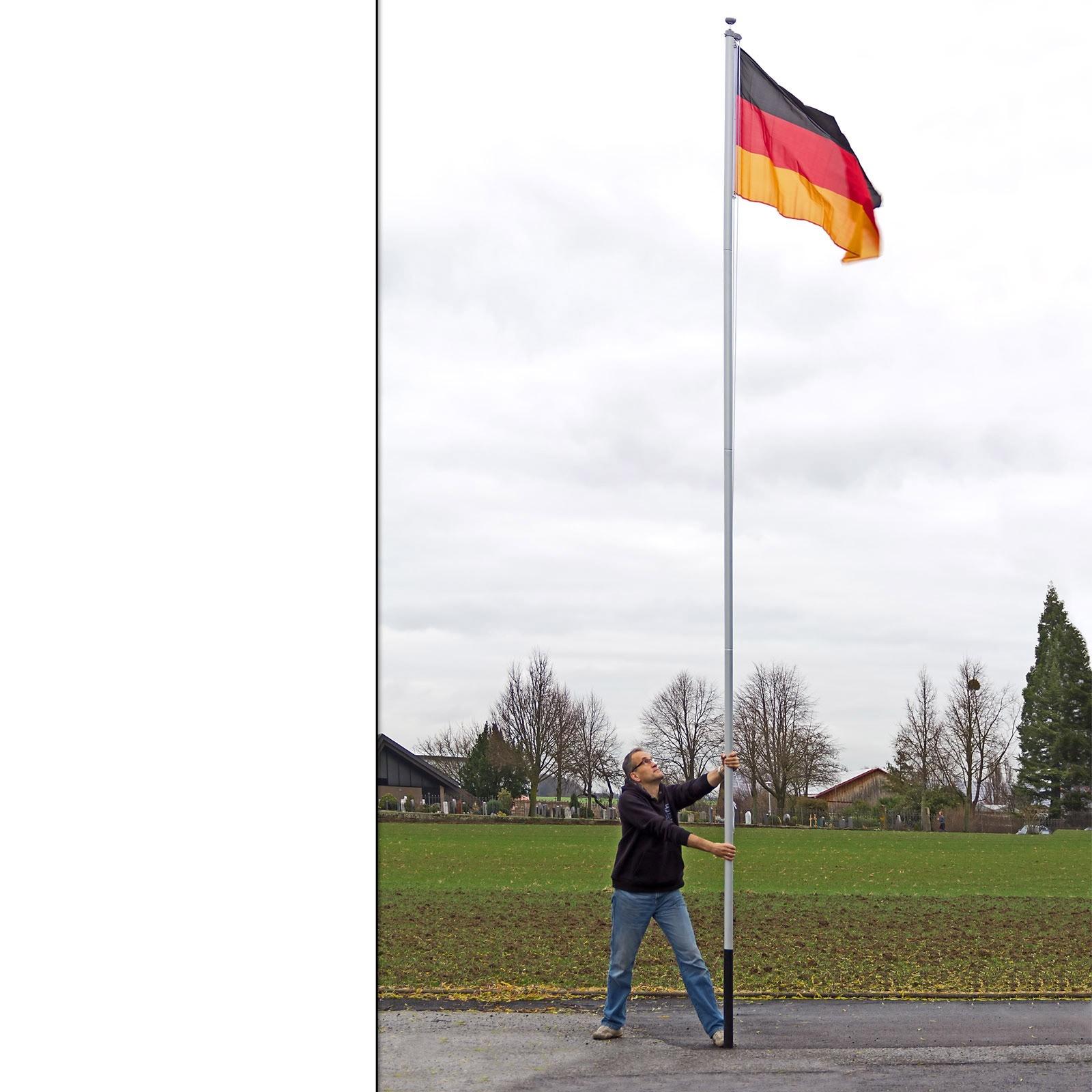 fahnenmast flaggenmast fahnenstangedeutschland 6 10m berlin fahne flagge ebay. Black Bedroom Furniture Sets. Home Design Ideas