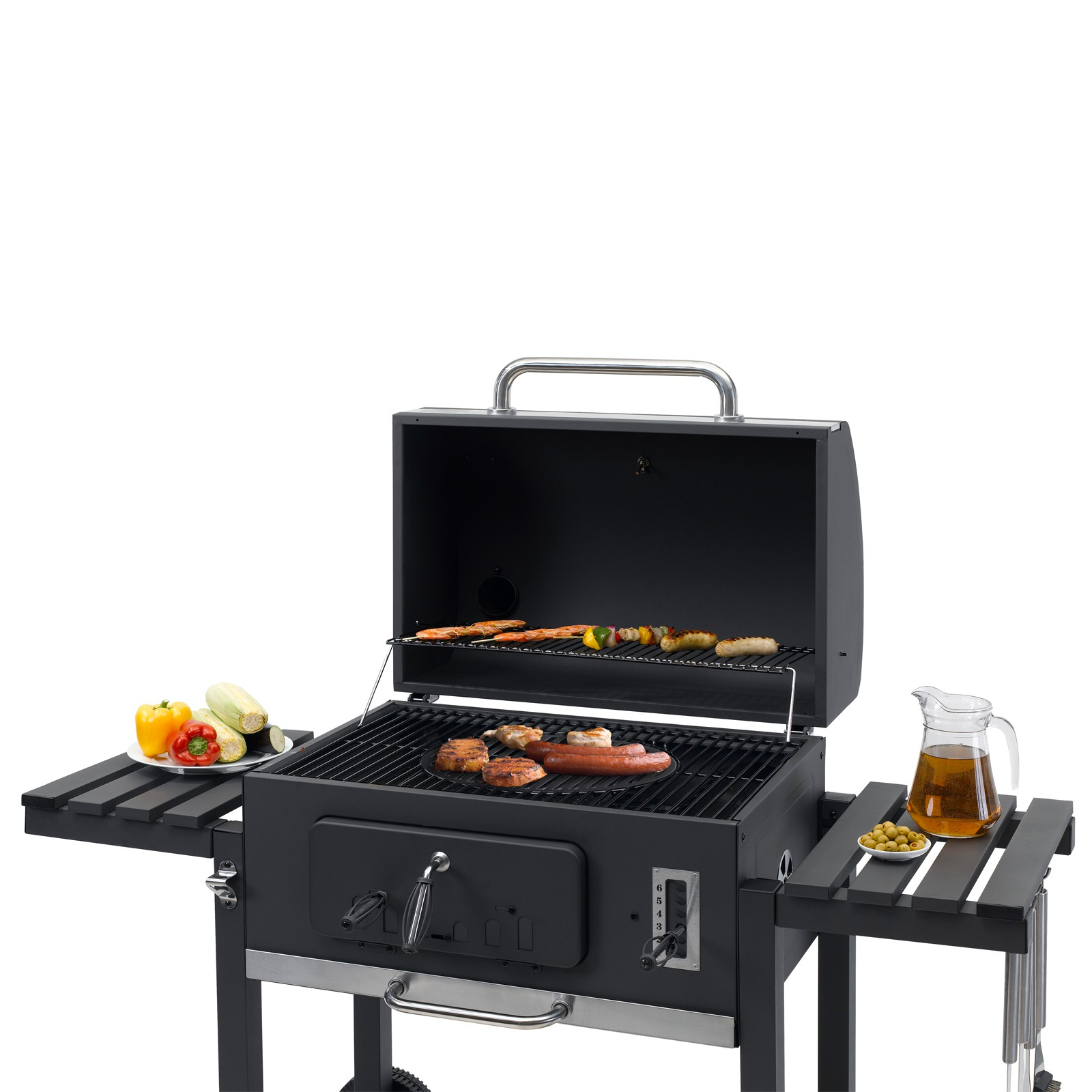tepro holzkohlengrill grillwagen bbq grill kohlegrill toronto xxl 4011964010611 ebay. Black Bedroom Furniture Sets. Home Design Ideas