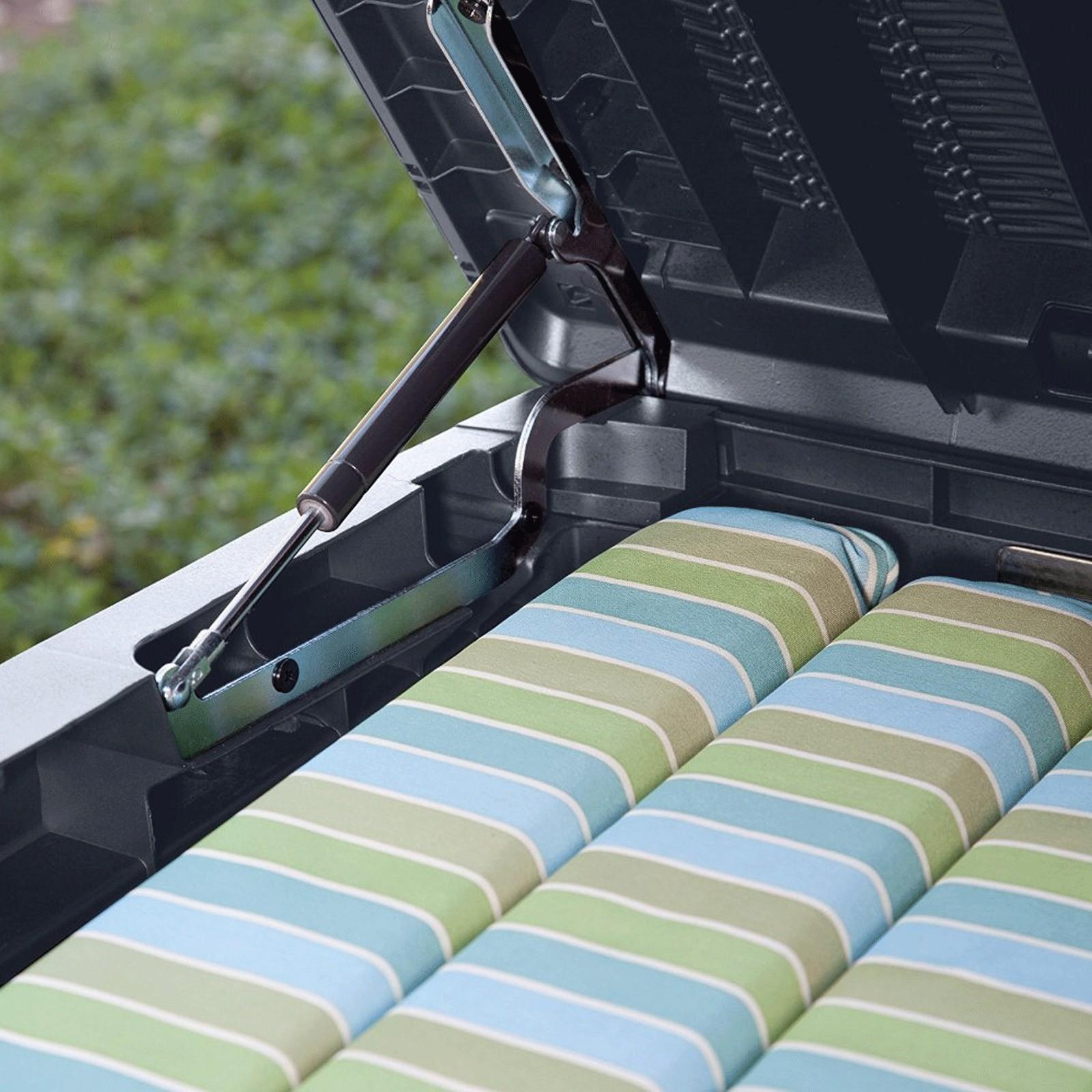 keter garten box sitzbank aufbewahrungsbox kissenbox auflagenbox sumatra 511l ebay. Black Bedroom Furniture Sets. Home Design Ideas