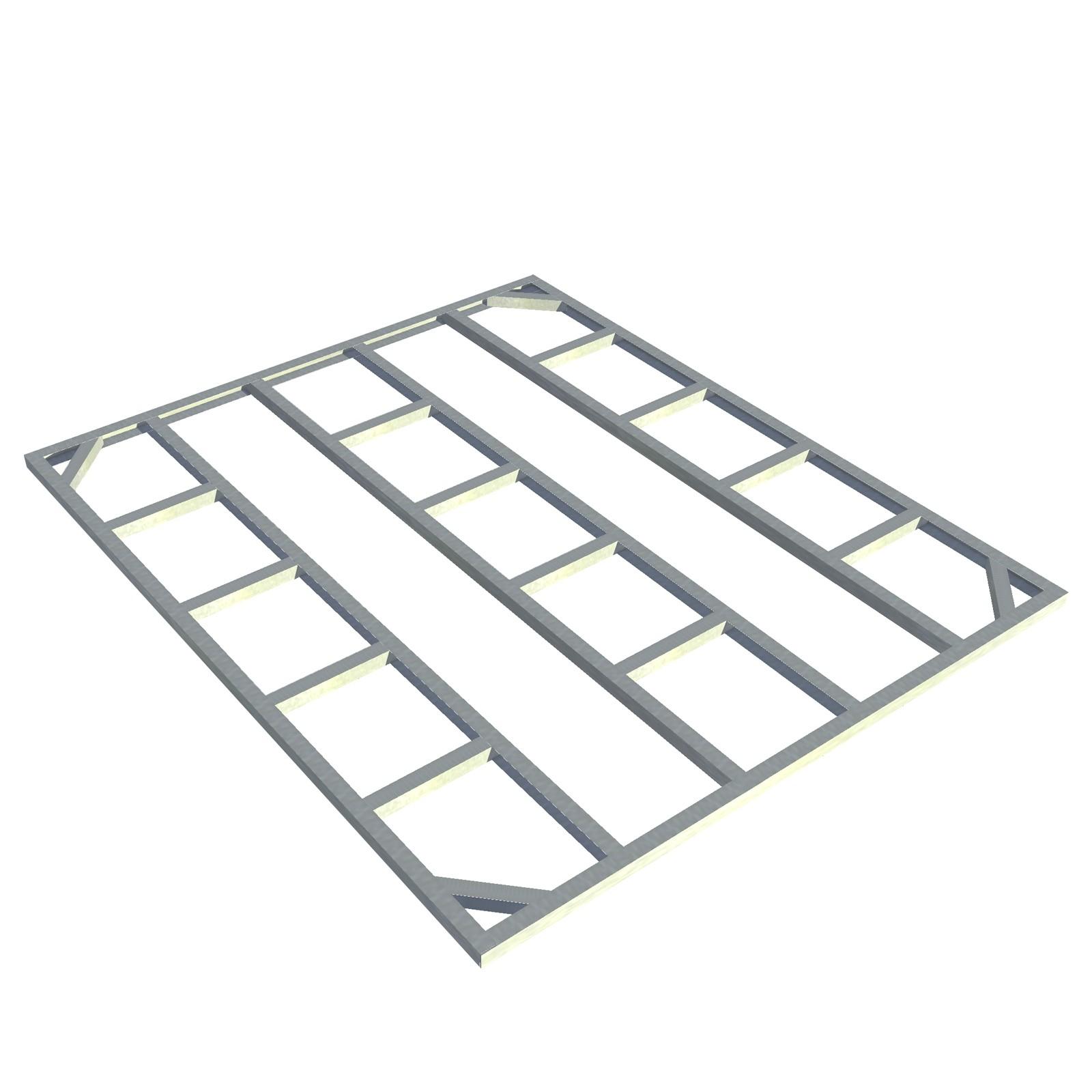 tepro metall unterkonstruktion gartenhaus ger tehaus titan 8x6 1 erweiterung. Black Bedroom Furniture Sets. Home Design Ideas