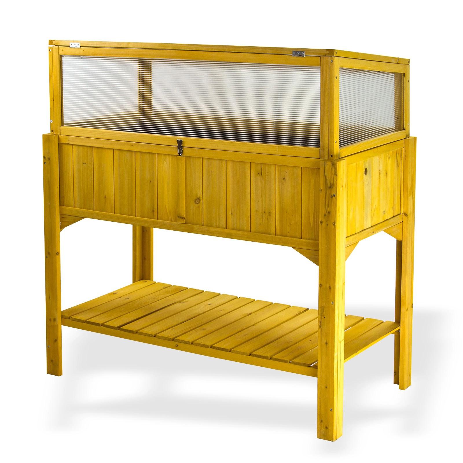 hochbeet lucca mit fr hbeetaufsatz garten beet fr hbeet aufsatz nadelholz ablage ebay. Black Bedroom Furniture Sets. Home Design Ideas