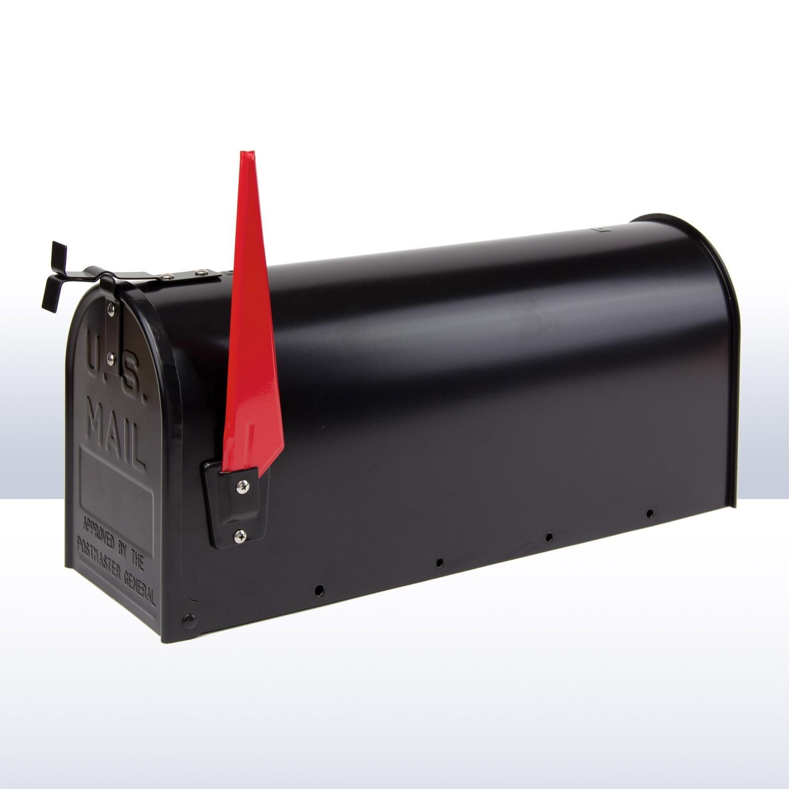 amerikanischer briefkasten american mailbox aus alu schwarz. Black Bedroom Furniture Sets. Home Design Ideas