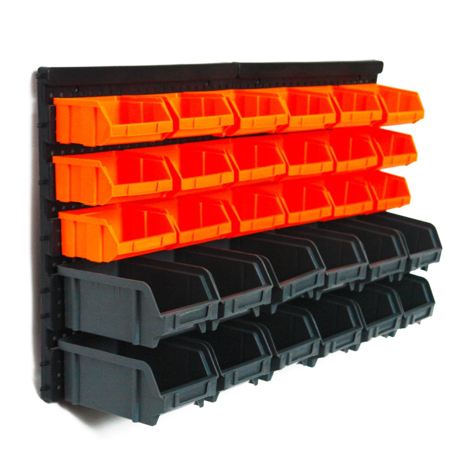 stapelboxen wandregal 30 tlg sichtlagerk sten lagerk sten lagersystem lagerregal ebay. Black Bedroom Furniture Sets. Home Design Ideas