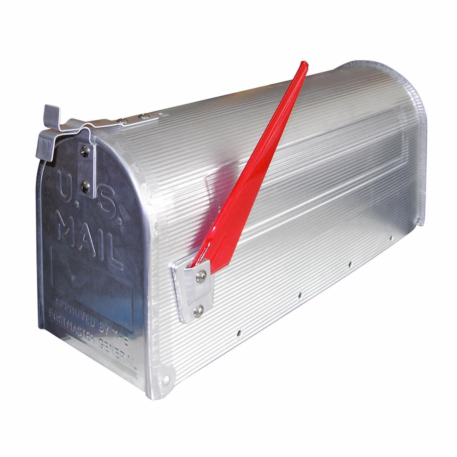 Amerikanischer briefkasten american mailbox aus alu silber for American briefkasten