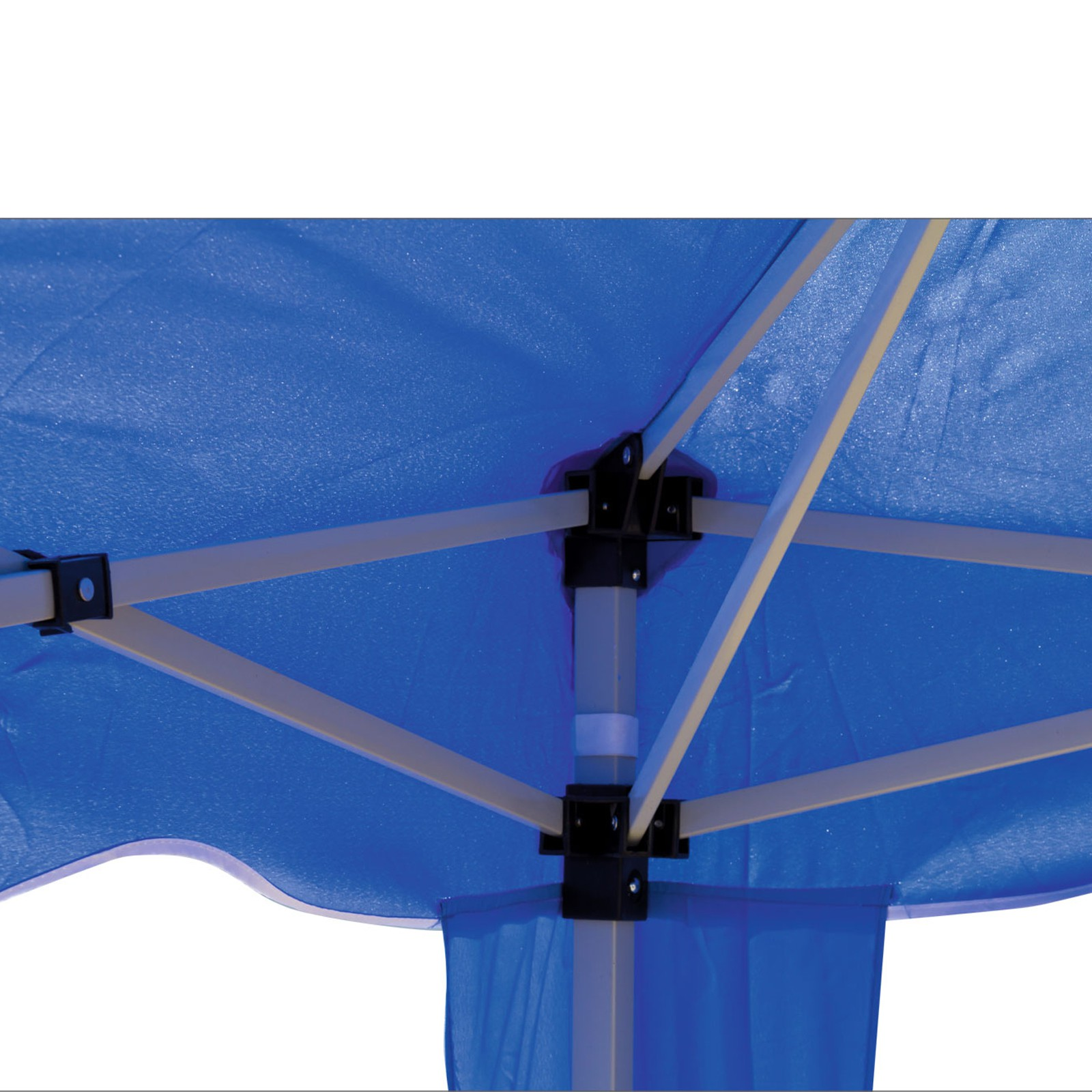gartenpavillon faltpavillon alu metall 3x3 meter hellblau. Black Bedroom Furniture Sets. Home Design Ideas