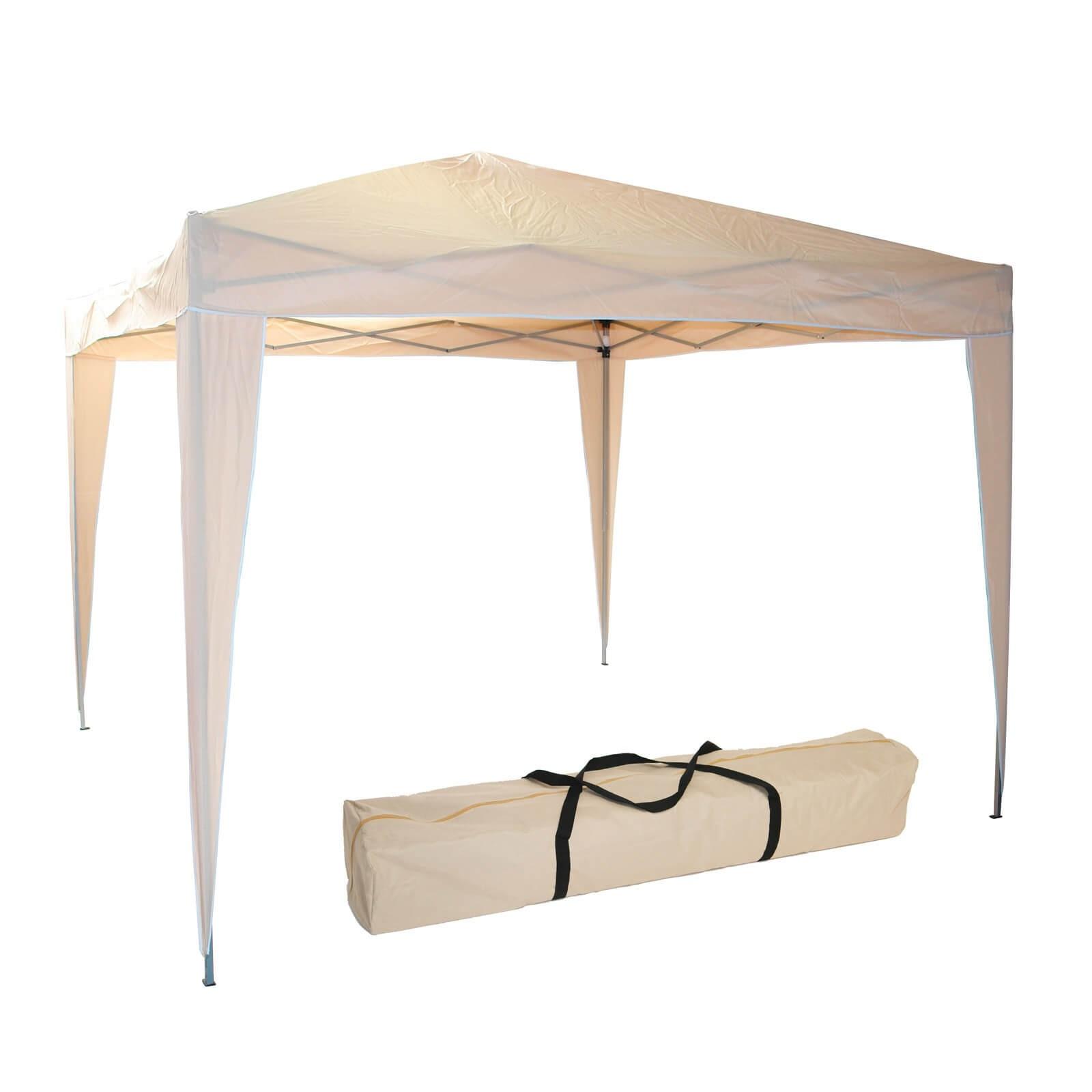 gartenpavillon faltpavillon alu 300 x 300 x 260 cm beige. Black Bedroom Furniture Sets. Home Design Ideas