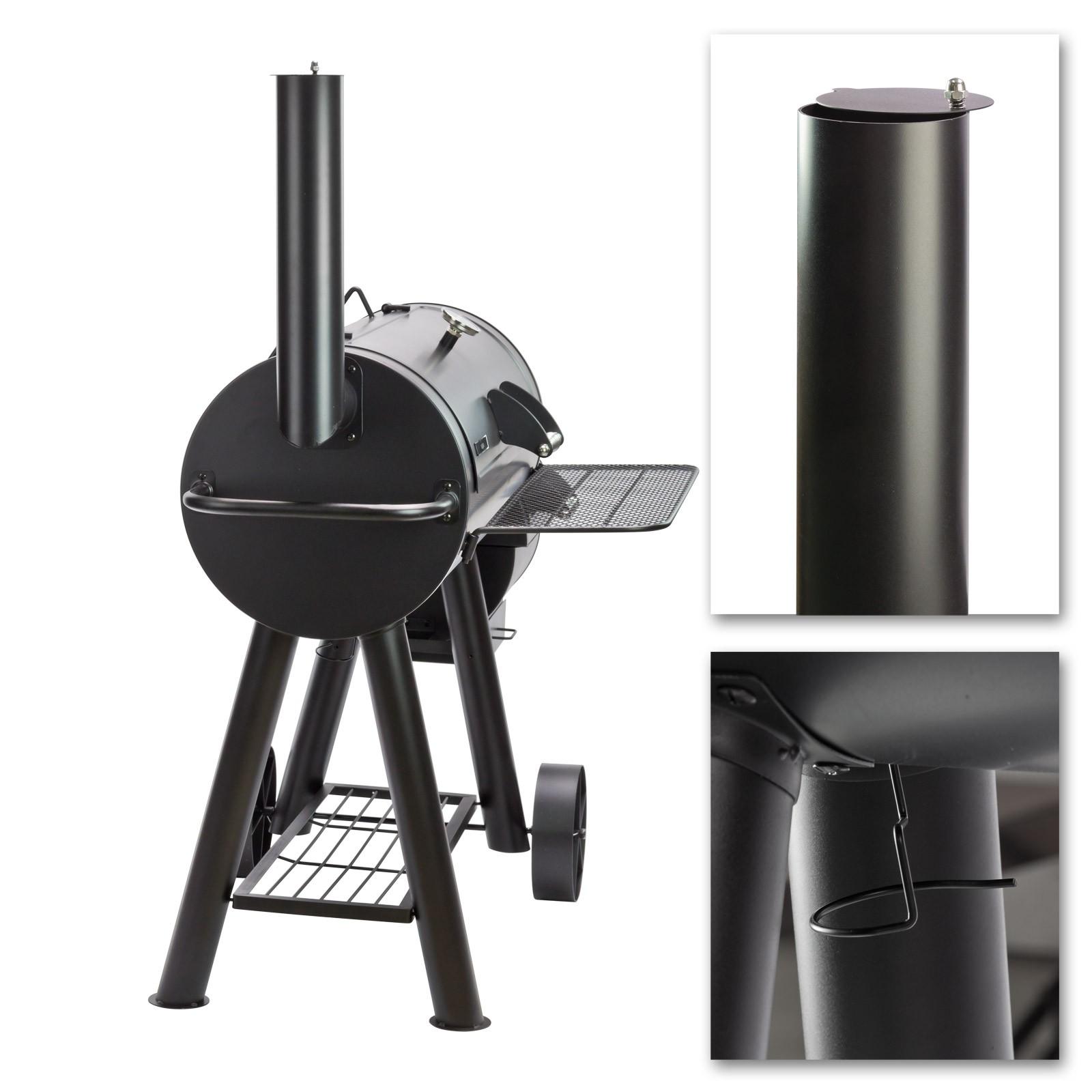 smoker grillwagen san antonio xxl 76 kg gartengrill barbecue. Black Bedroom Furniture Sets. Home Design Ideas