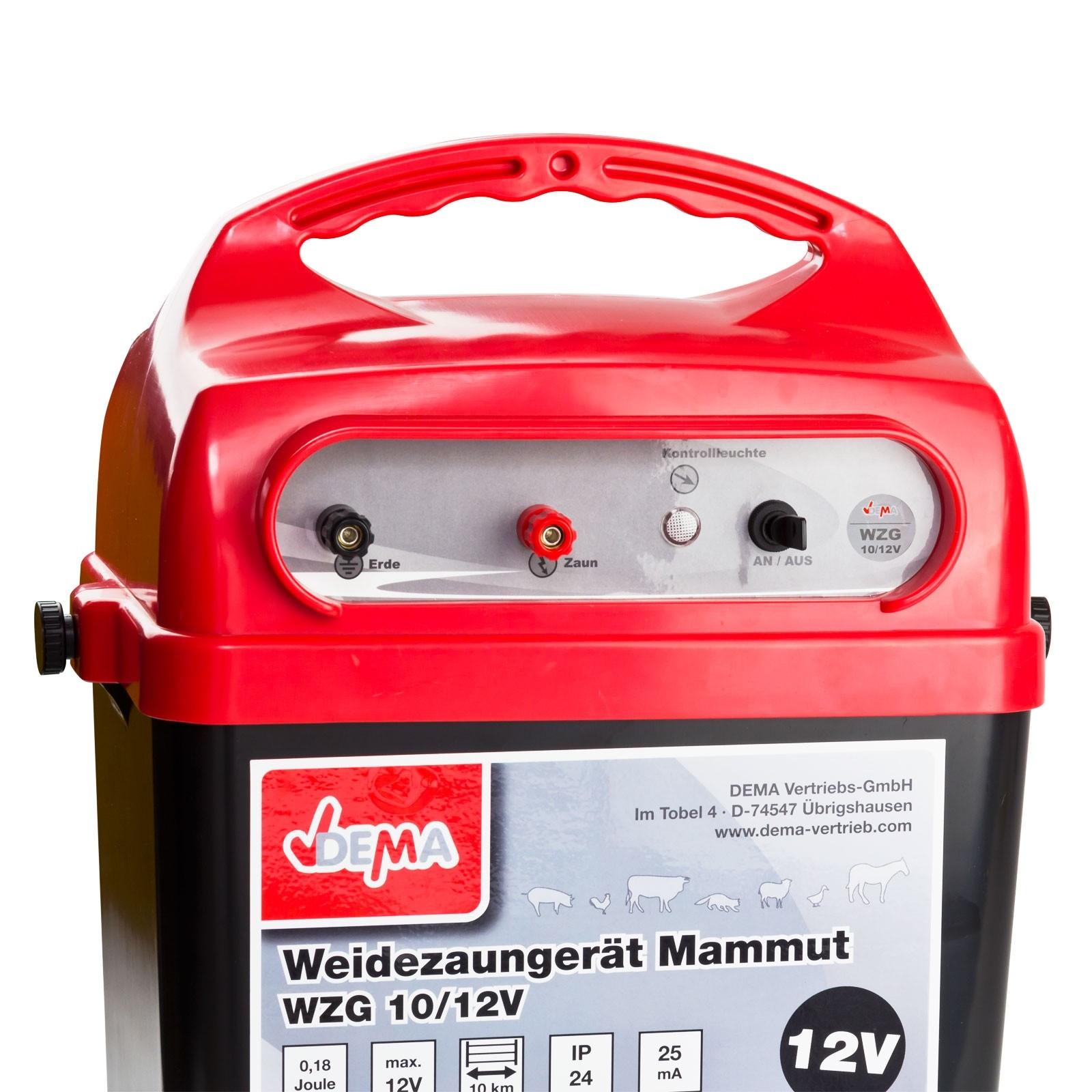 Weidezaunger T Mammut Wzg 10 Elektrozaun Weidezaun 12 Volt