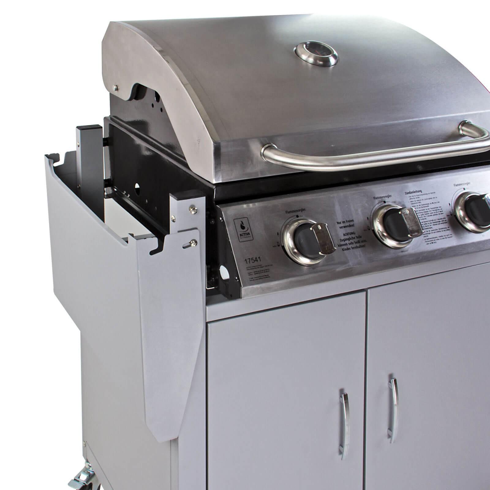 edelstahl gasgrill grillwagen memphis ii. Black Bedroom Furniture Sets. Home Design Ideas