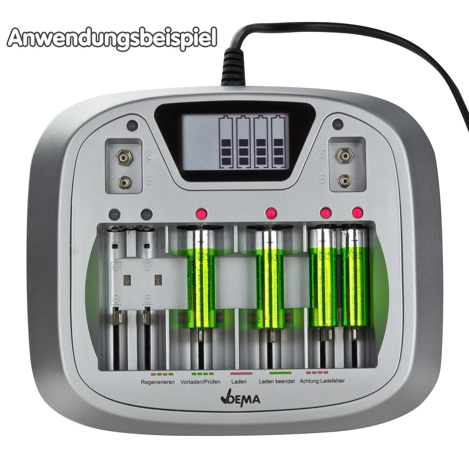 akku ladeger t batterieladeger t al8 electronic aa aaa c d blockbatterien. Black Bedroom Furniture Sets. Home Design Ideas