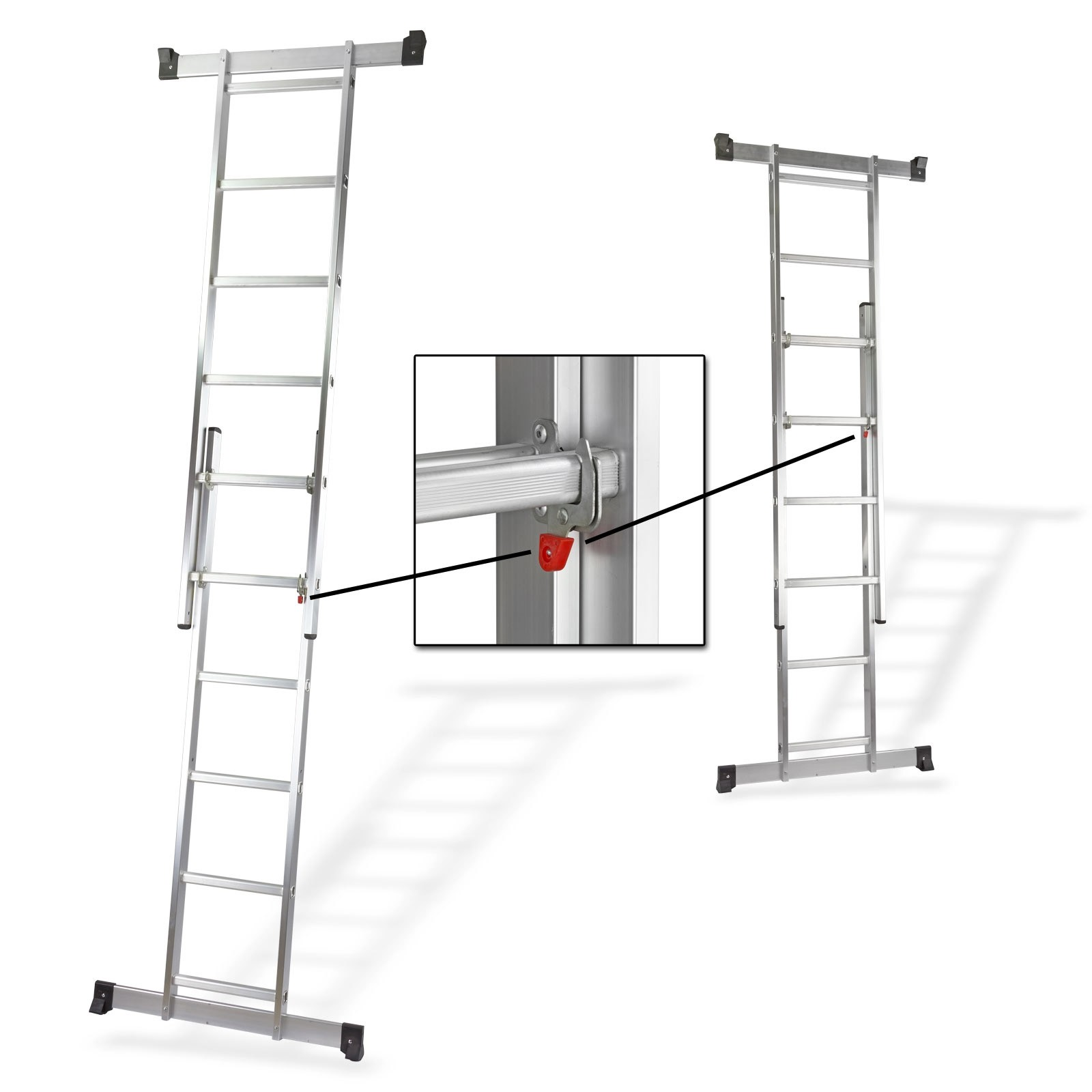 3 in 1 ger stleiter leiter mit plattform. Black Bedroom Furniture Sets. Home Design Ideas