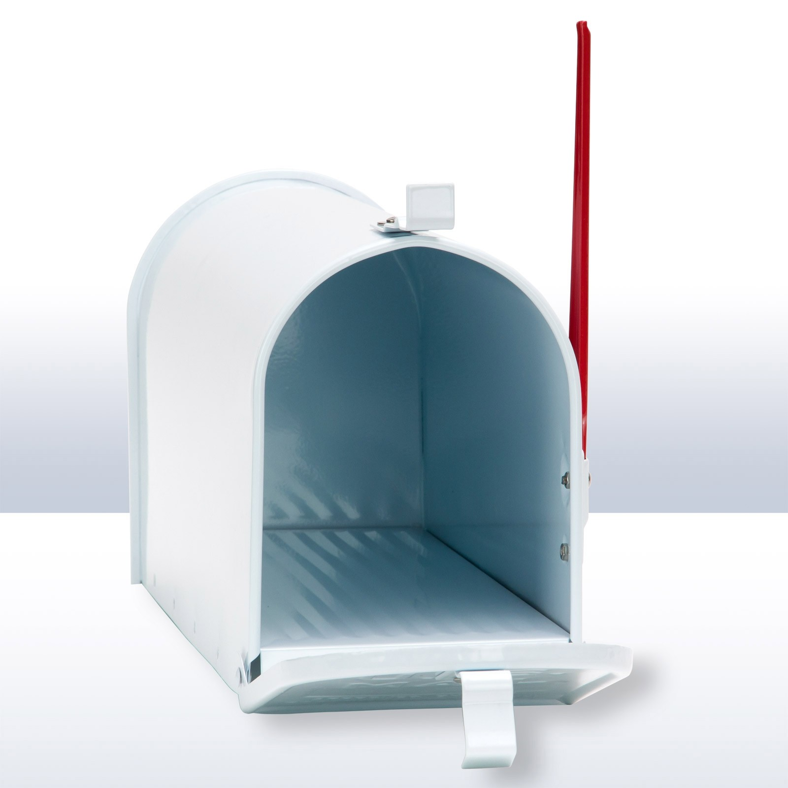 Amerikanischer briefkasten american mailbox aus alu in wei for American briefkasten