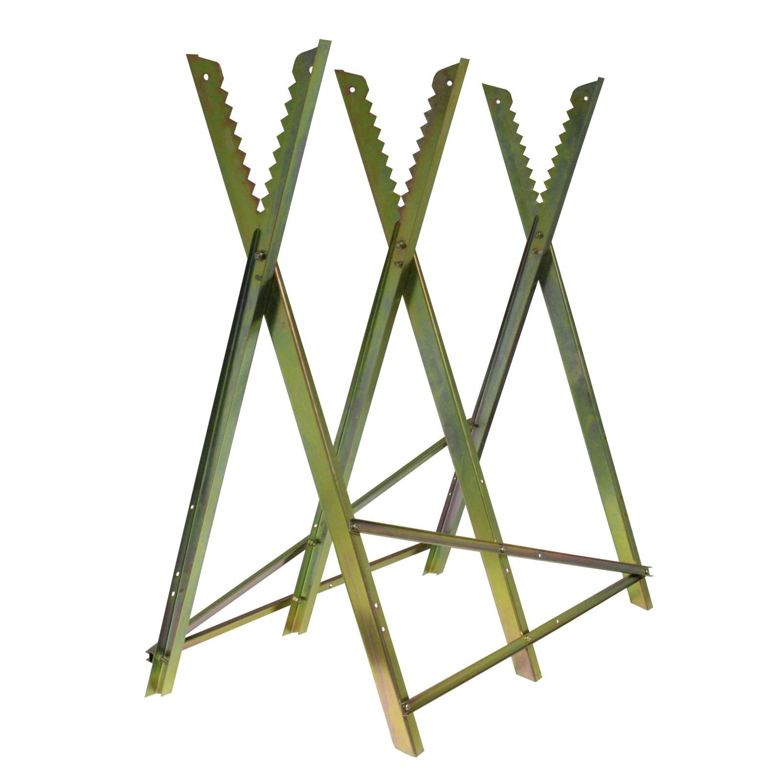 Metallsägebock / Sägebock, klappbar zum Sägen von Brennholz