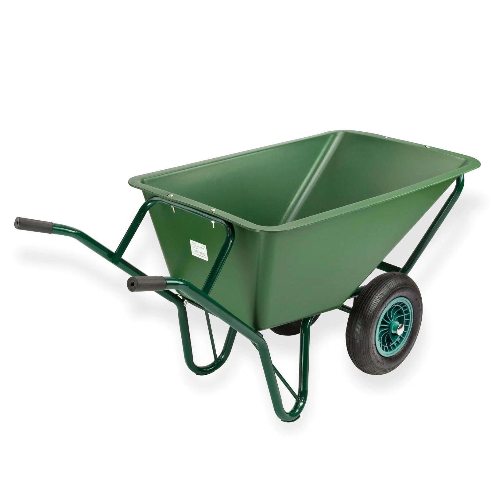 schubkarre schubkarren sk130 twin mit 2 r dern 130 liter 150 kg. Black Bedroom Furniture Sets. Home Design Ideas