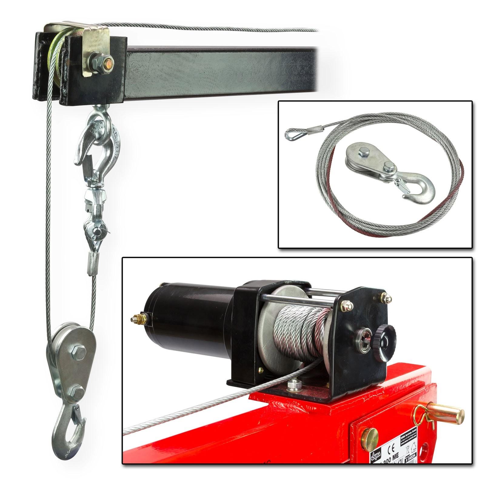 pickup kran autokran winch 300 mit 12 volt seilwinde. Black Bedroom Furniture Sets. Home Design Ideas