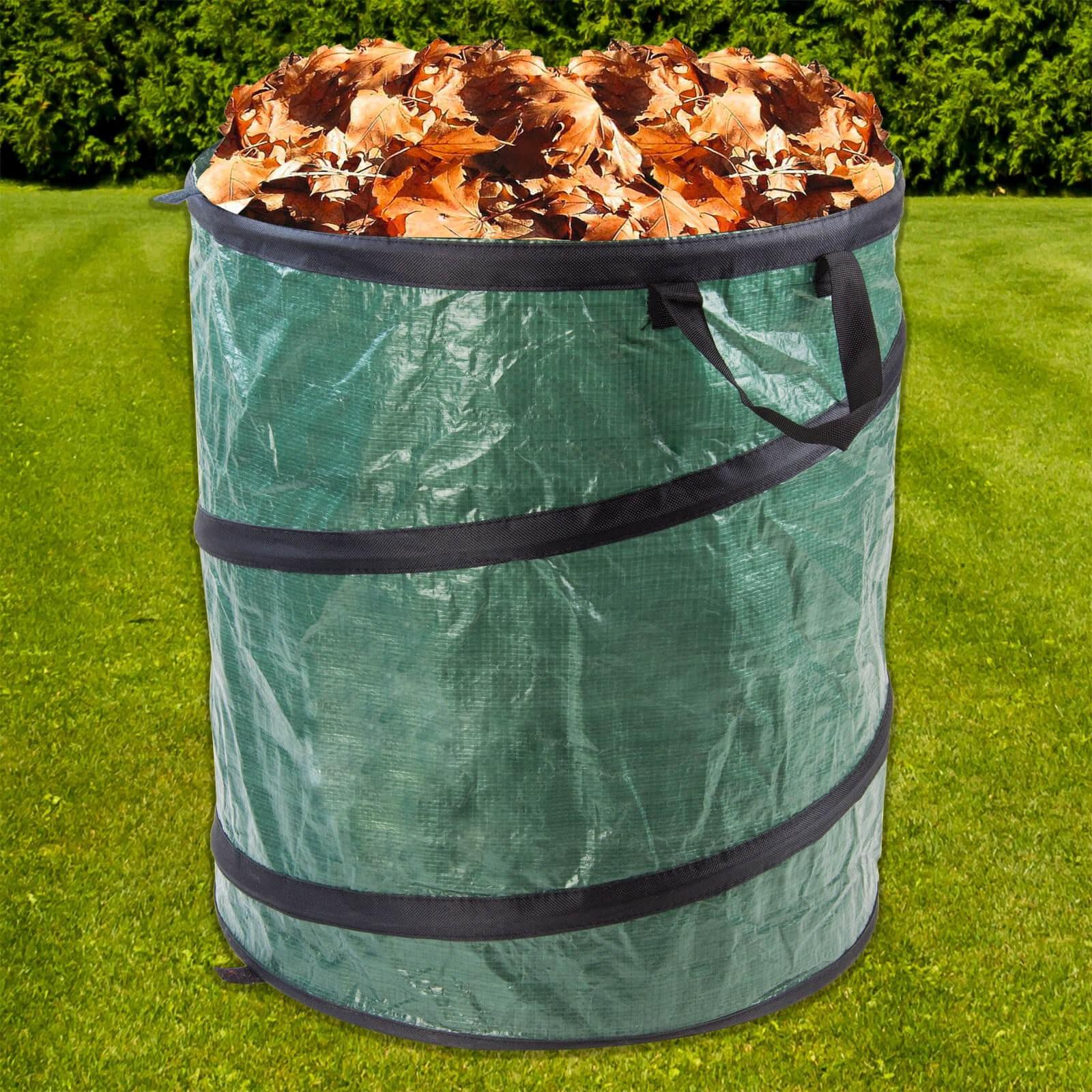 Pop up sack xl 200 liter gartenabfallsack laubsack for Pool selbstaufstellend