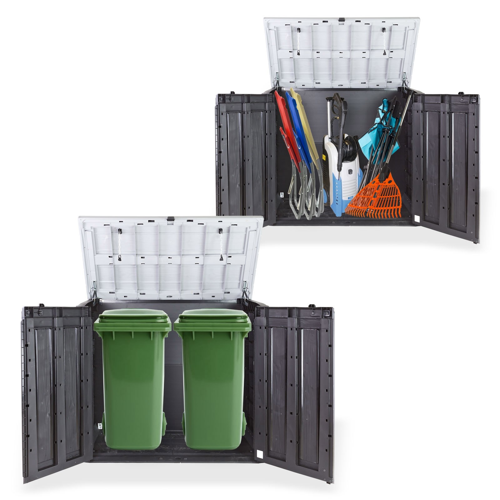 m lltonnenbox m lltonnen sichtschutz xl f r 2x240 liter beh lter. Black Bedroom Furniture Sets. Home Design Ideas
