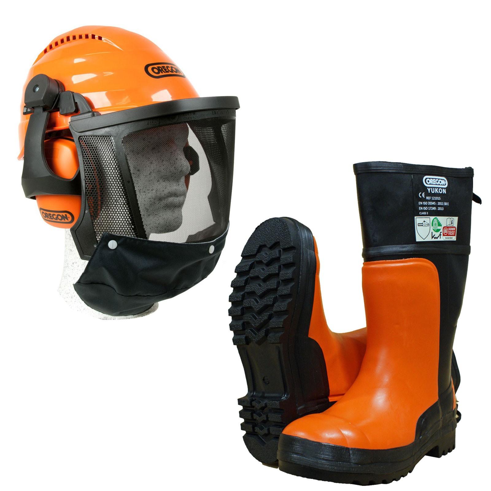 KWF FPA Forst Schnittschutz Set 2-tlg Oregon Helm + Stiefel, PSA-Forst, Waldarbeit, Holzarbeit, Kettensäge, Motorsäge, , var-forstset2a1