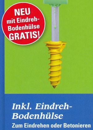 Juwel Wäschespinne Novaplus Easy integr. Schutzhülle + Bodenhülse