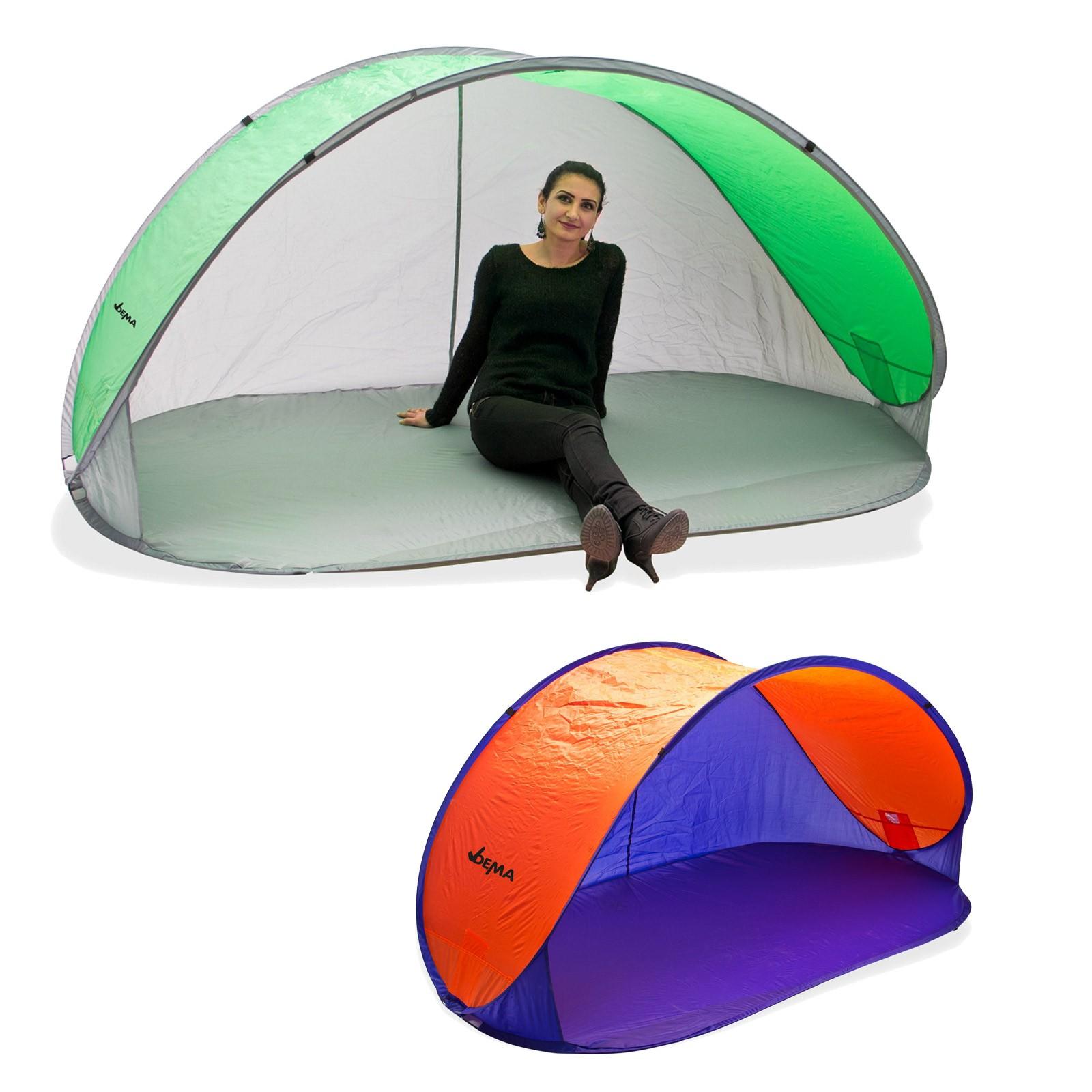 strandmuschel pop up strandzelt sonnenschutz windschutz auswahl wurfzelt ebay. Black Bedroom Furniture Sets. Home Design Ideas