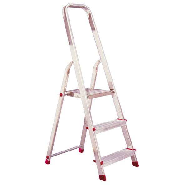 krause corda alu trittleiter stehleiter 3 stufen klapptritt