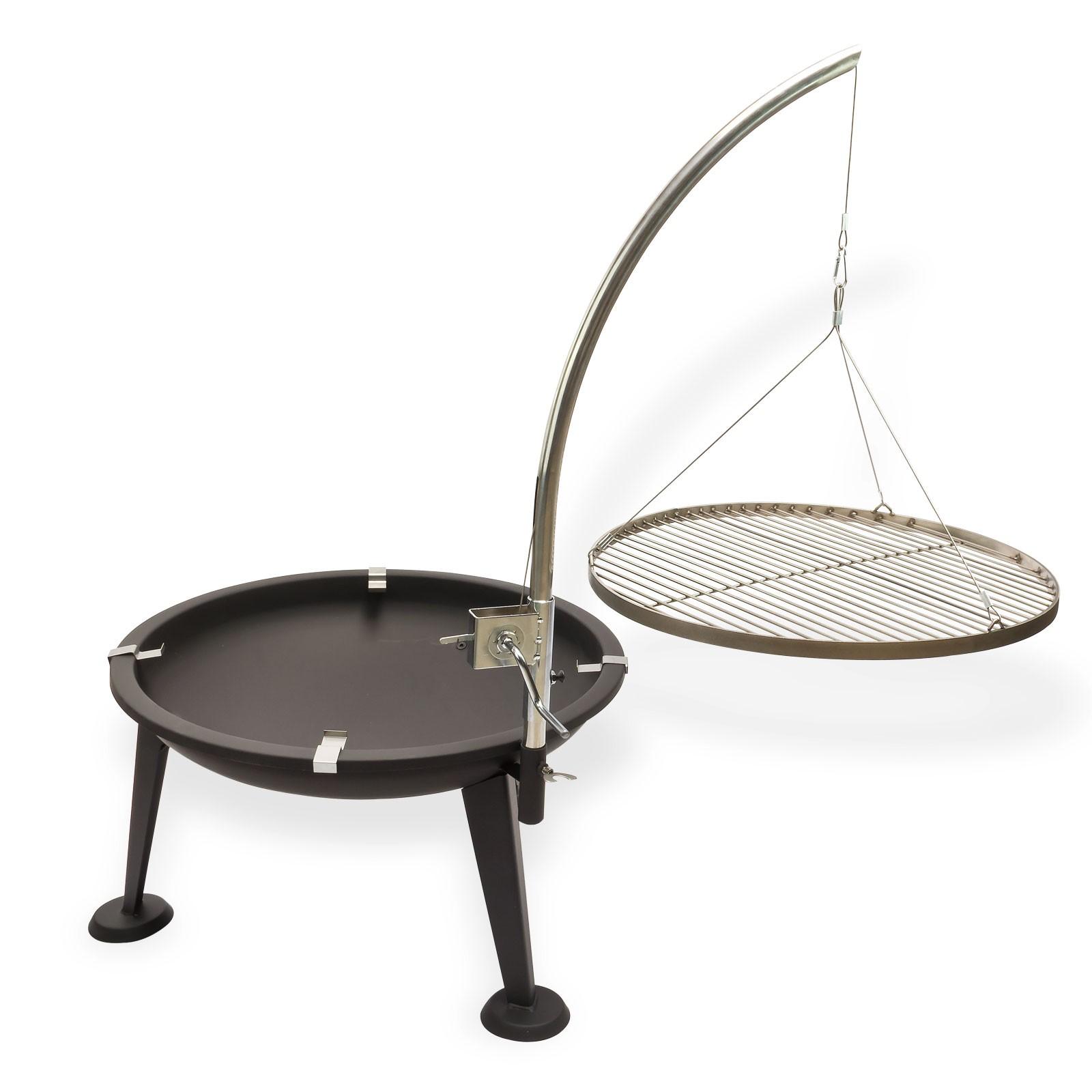 schwenkgrill holzkohlegrill oregon 3 beinig 55 cm tw edelstahl. Black Bedroom Furniture Sets. Home Design Ideas