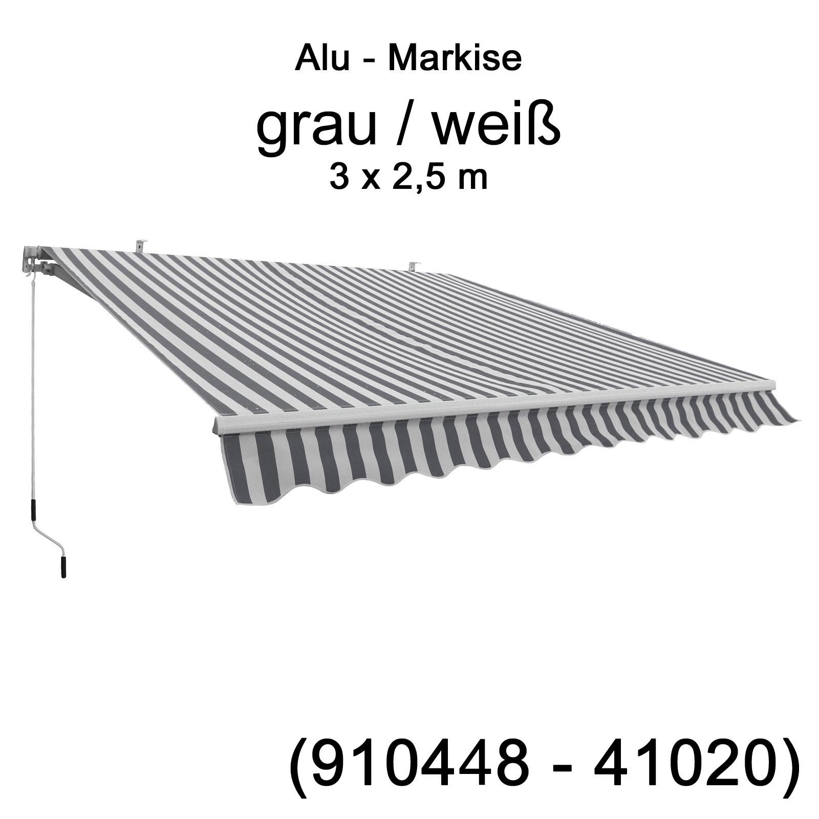alu markise gelenkarmmarkise 3 m x 2 5 m decke wand diverse farben sonnenschutz ebay. Black Bedroom Furniture Sets. Home Design Ideas