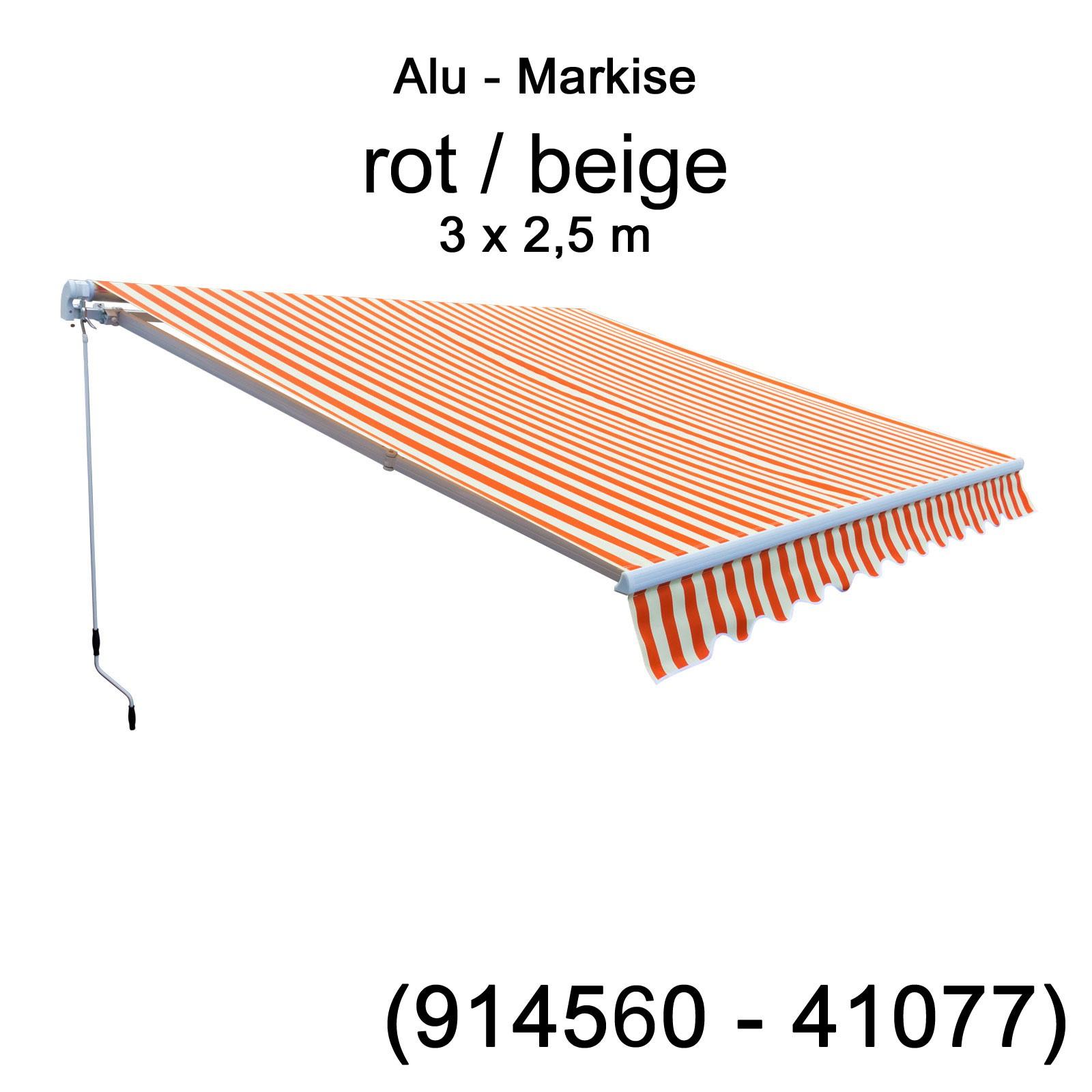Alu Markise Gelenkarmmarkise 3 M X 2 5 M Decke Wand