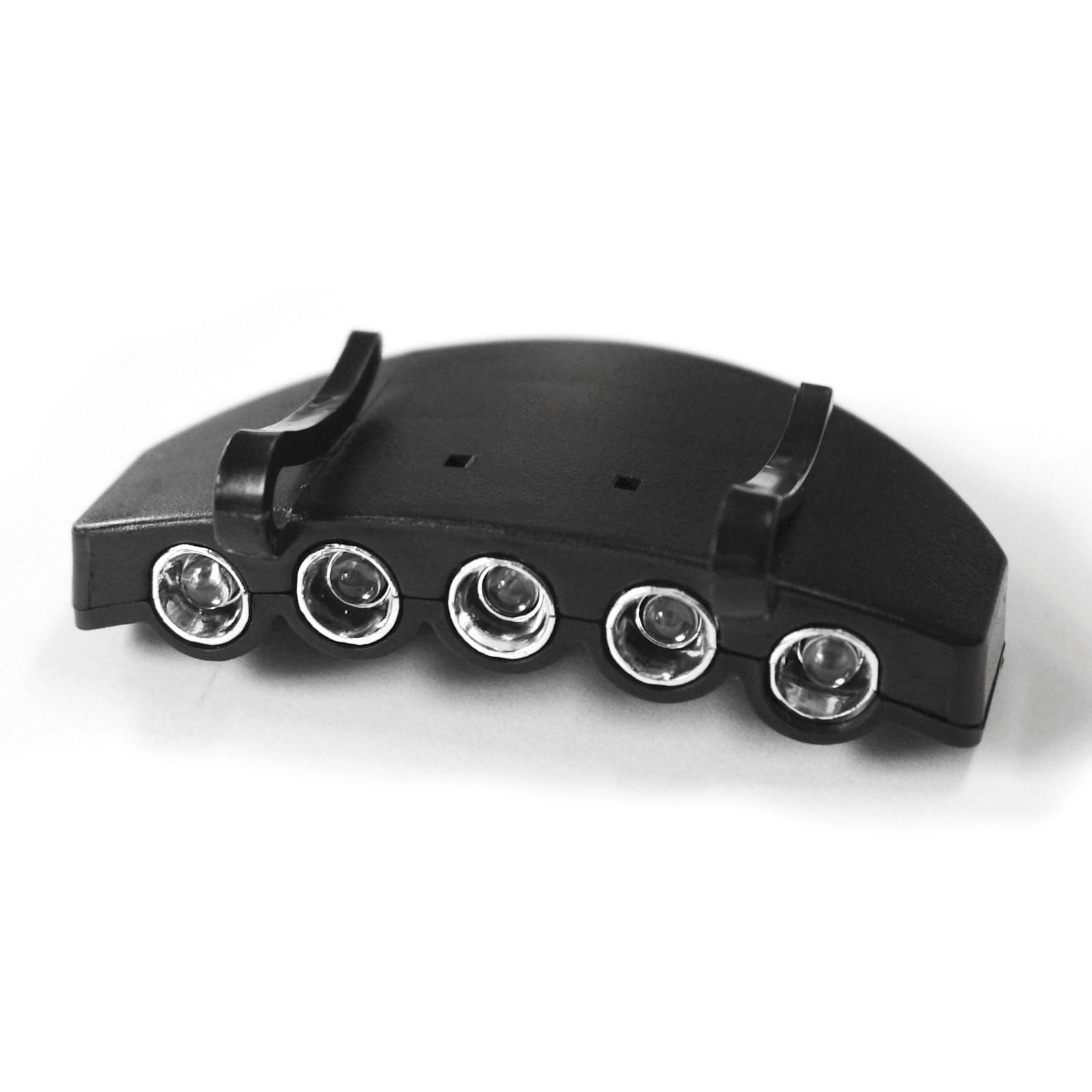 Basecap Schirmmütze Hut Leuchte 5x LED Cap Light Dauer/Blinken, Beleuchtung für Schildmützen Schildkappen Mützen Caps , 4031765302197, 917451