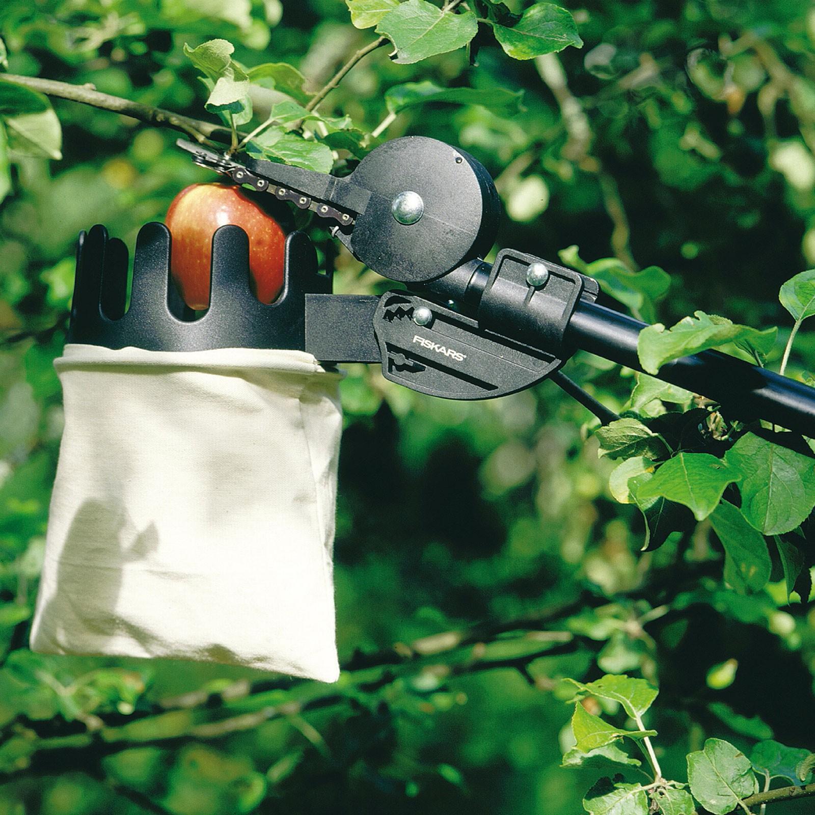 Fiskars Obstpflücker als Zubehör zu Schneidgiraffe UP, Obsternte, Obstverarbeitung, Obstbaum, Hochernte, 6411501969705, 164009
