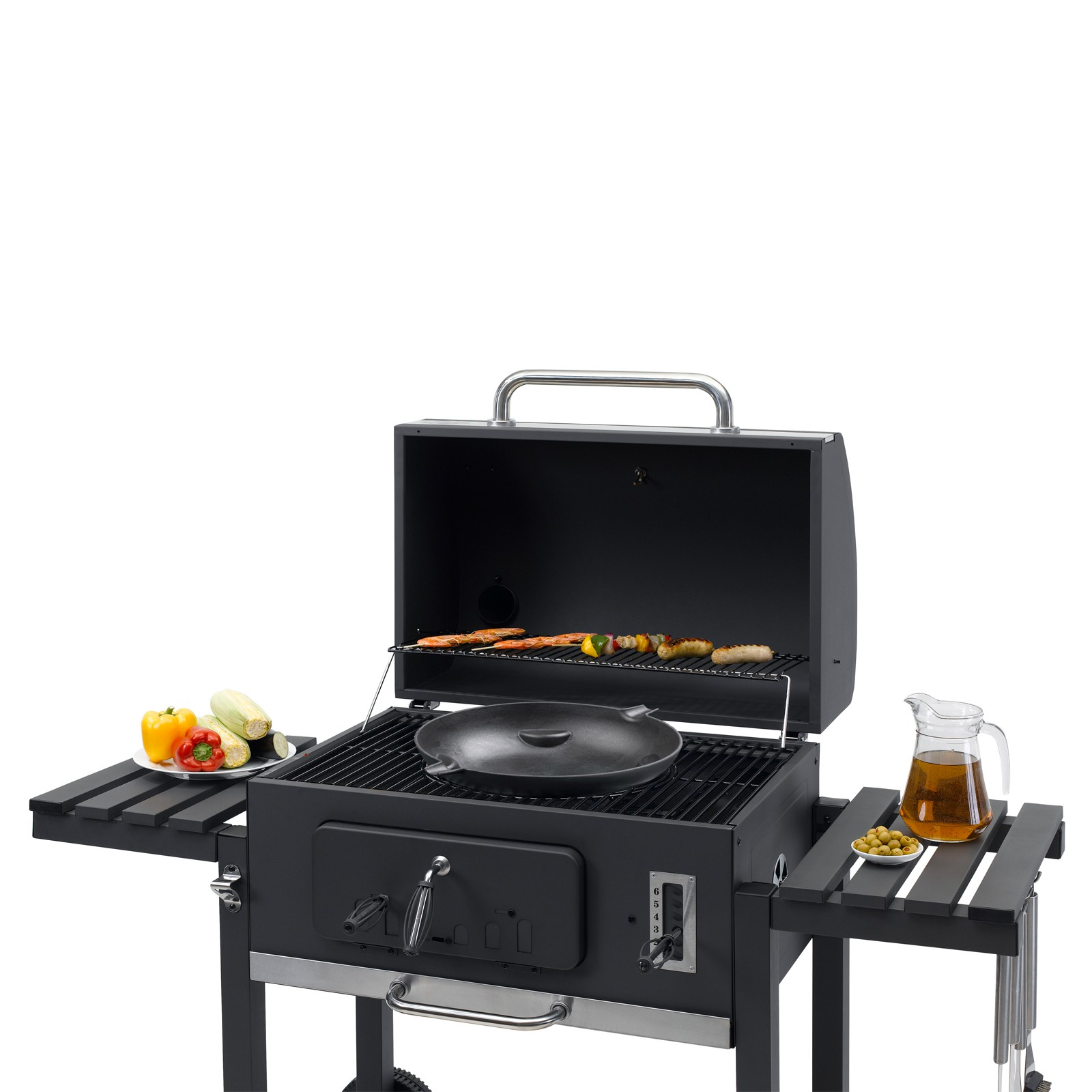 tepro holzkohlengrill grillwagen toronto xxl. Black Bedroom Furniture Sets. Home Design Ideas