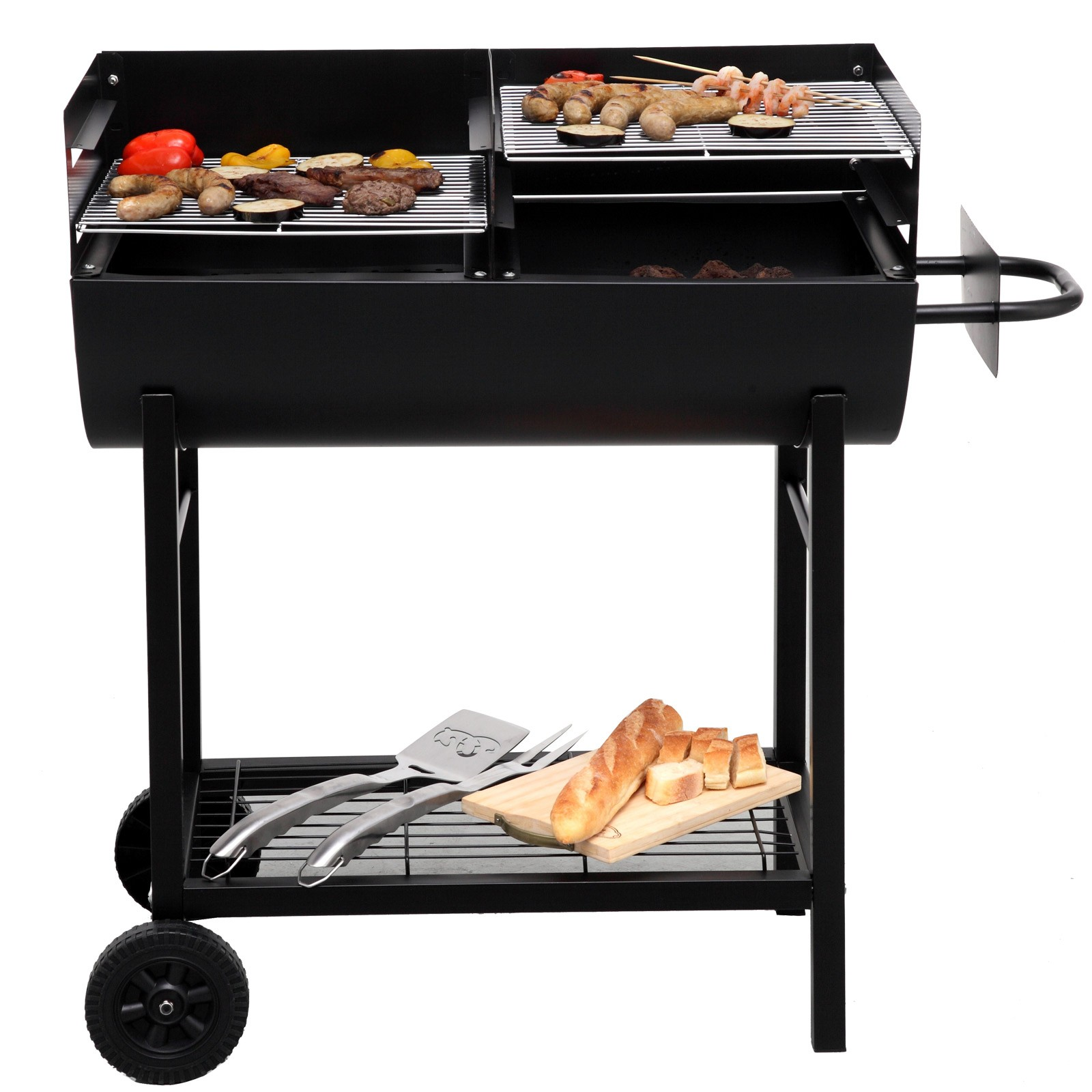 tepro holzkohlengrill grillfass grillwagen kohlengrill lfassgrill grill detroit 4011964010376. Black Bedroom Furniture Sets. Home Design Ideas