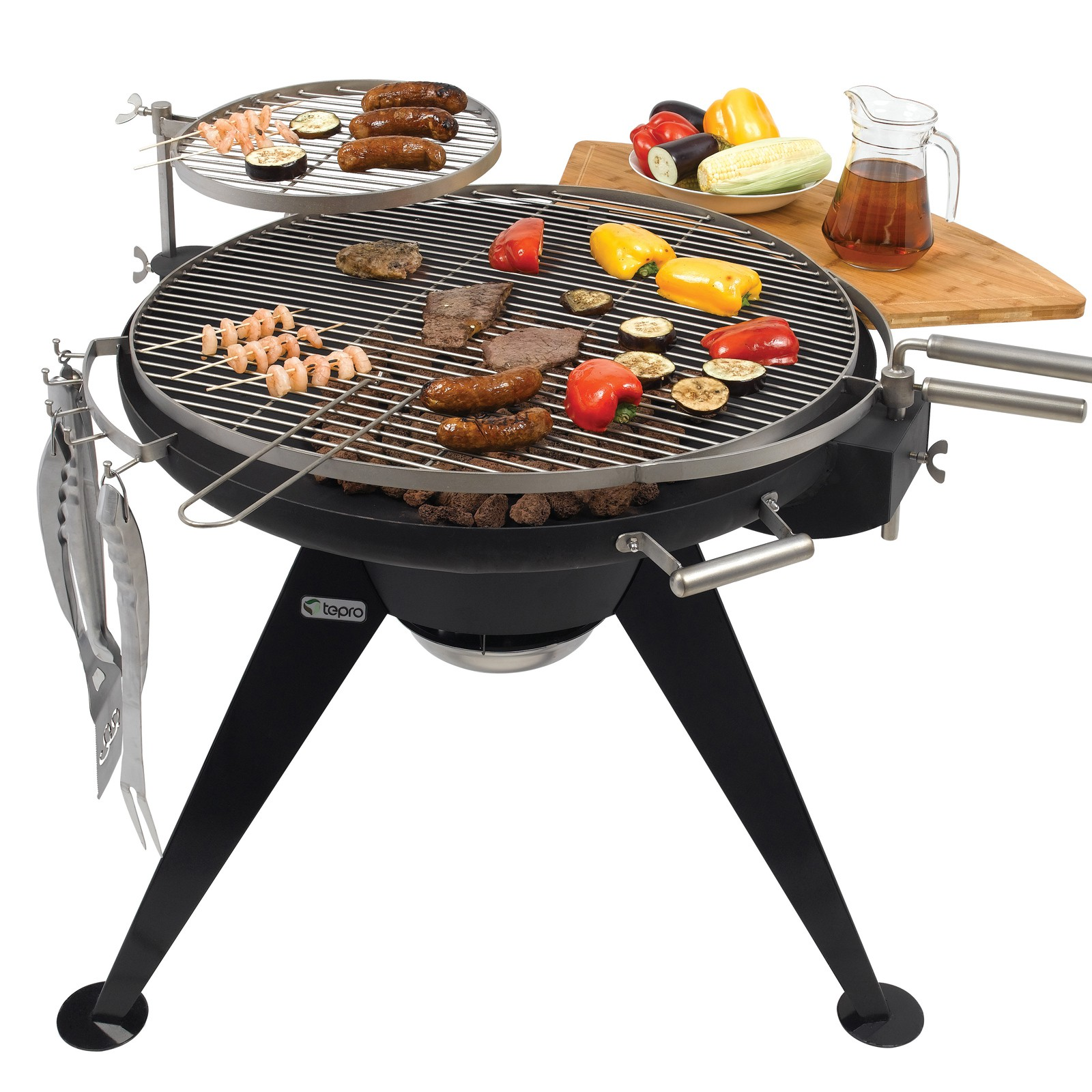 tepro holzkohlengrill standgrill cranford schwenkrost kohlegrill campinggrill ebay. Black Bedroom Furniture Sets. Home Design Ideas