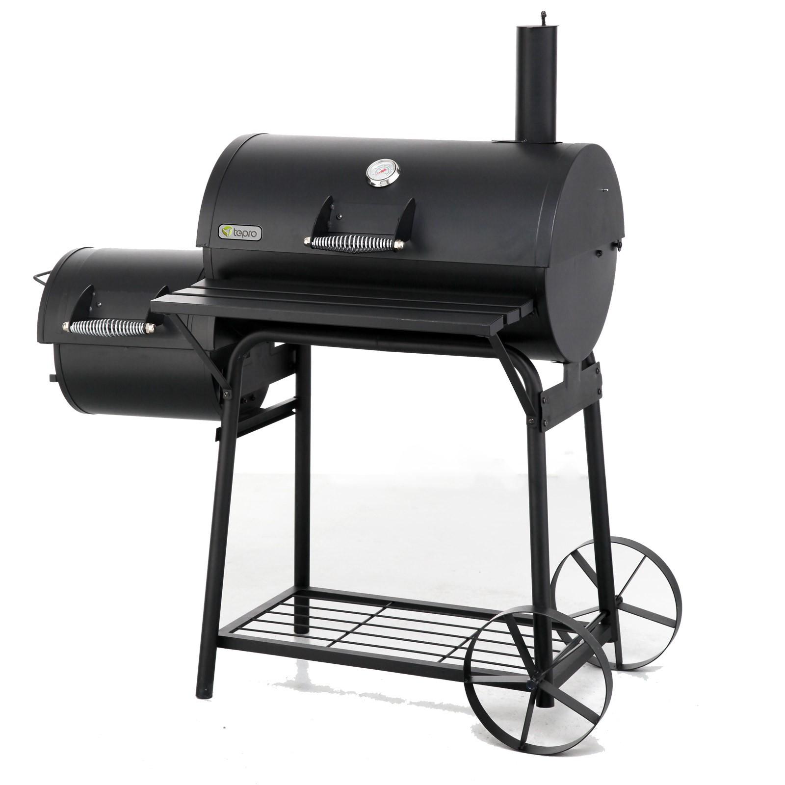 tepro smoker bbq grill biloxi grillwagen grill holzkohlengrill kohlengrill ebay. Black Bedroom Furniture Sets. Home Design Ideas