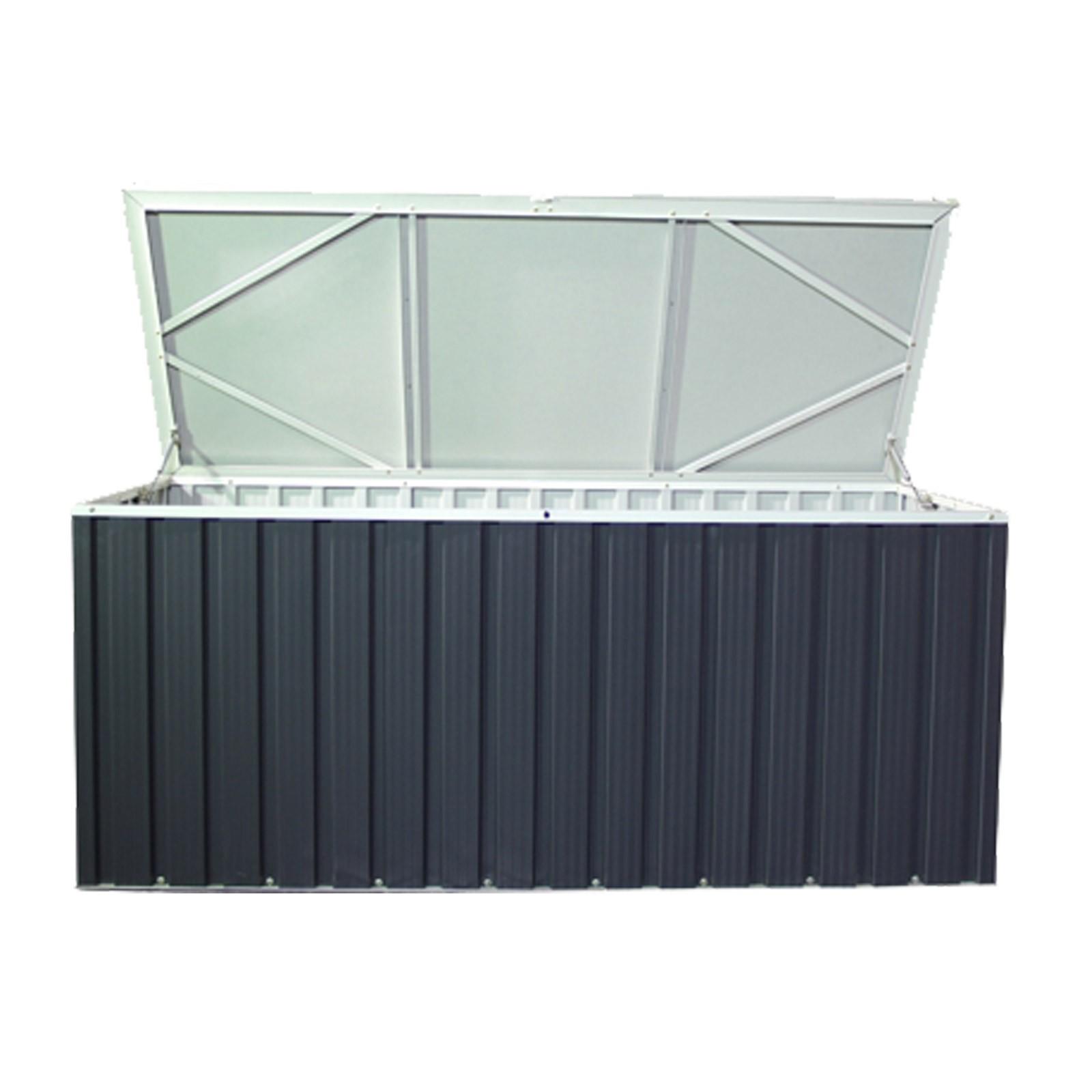 tepro metall ger tebox auflagenbox kissenbox gartenbox kissentruhe box 770 liter ebay. Black Bedroom Furniture Sets. Home Design Ideas