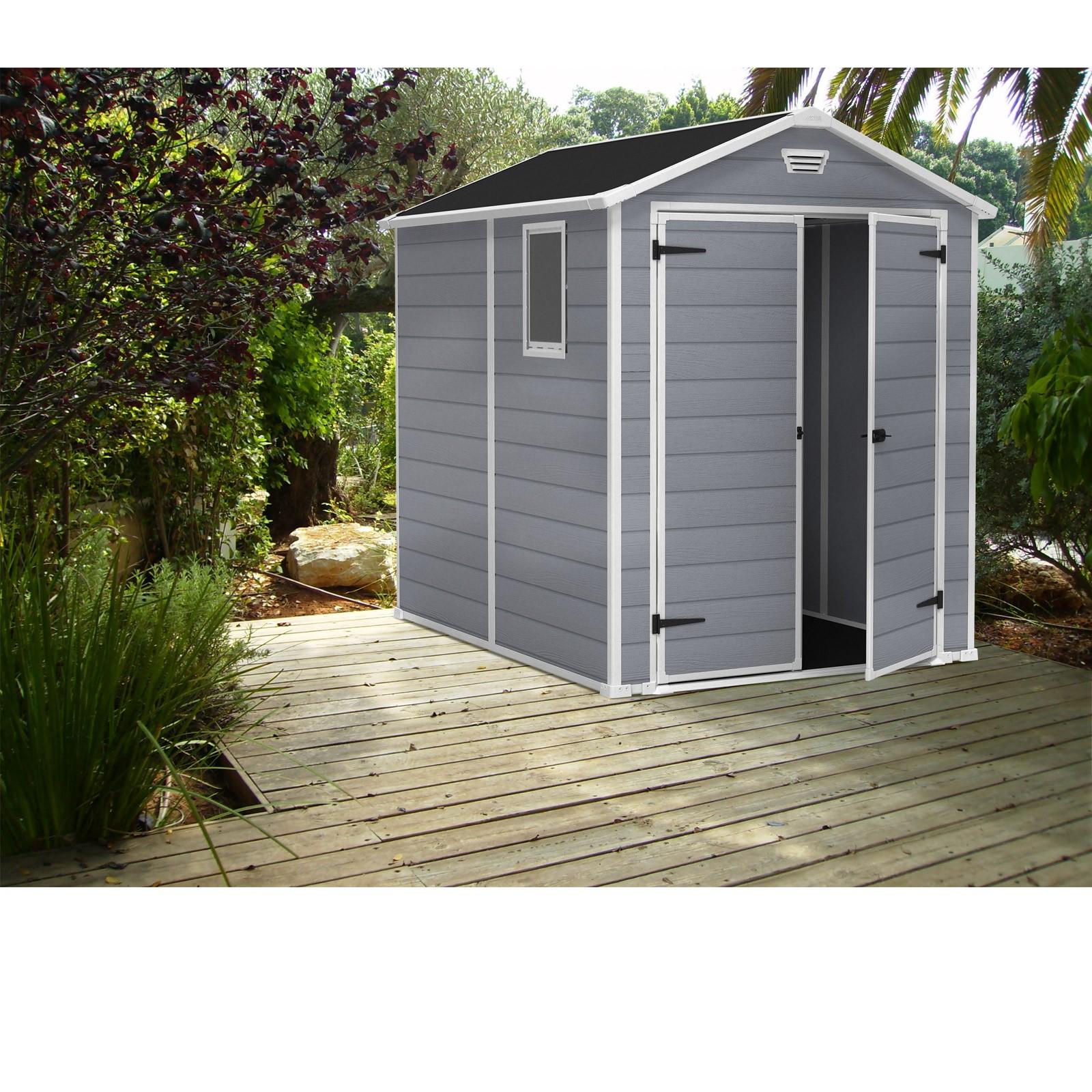 keter ger tehaus gartenhaus kunststoff manor 6x8. Black Bedroom Furniture Sets. Home Design Ideas