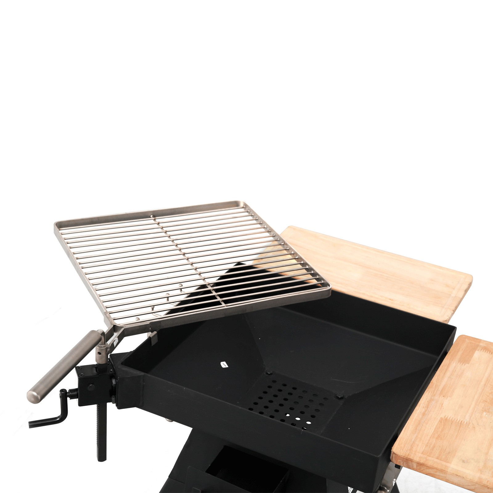 tepro holzkohlengrill standgrill seaport edelstahl grillrost schwenkrost grill 4011964141650 ebay. Black Bedroom Furniture Sets. Home Design Ideas