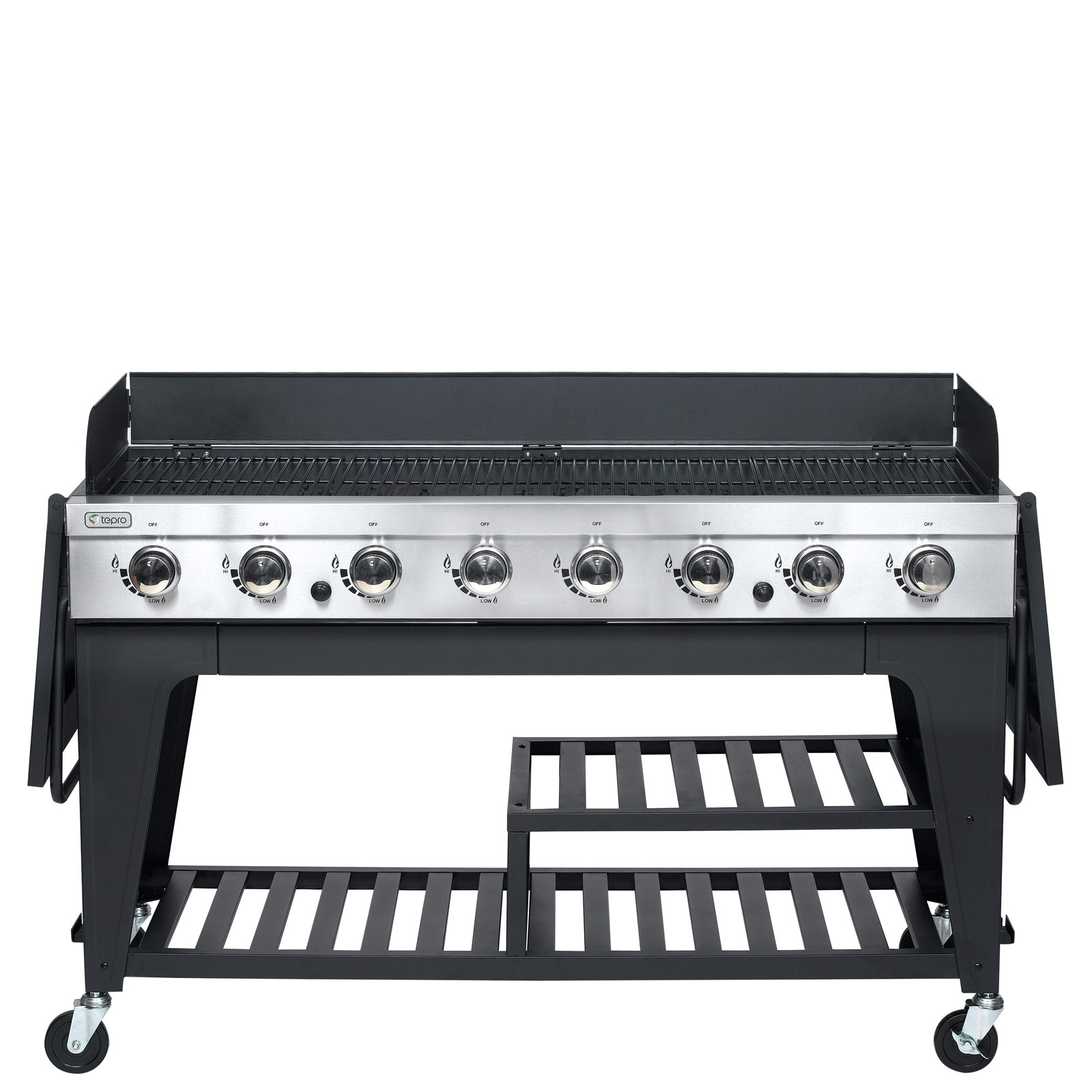 tepro gasgrill grillwagen 8 edelstahl brenner montgomery. Black Bedroom Furniture Sets. Home Design Ideas