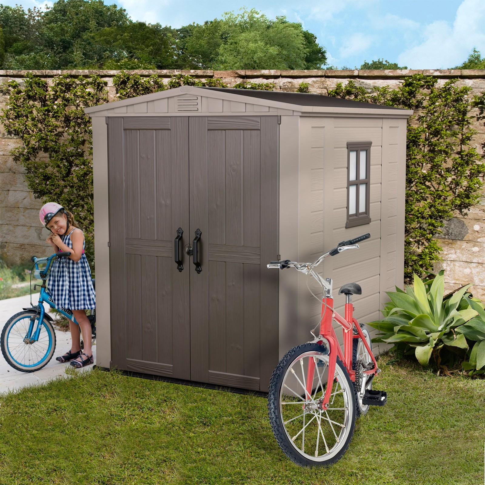 keter gartenhaus kunststoff ger tehaus factor 6x6. Black Bedroom Furniture Sets. Home Design Ideas