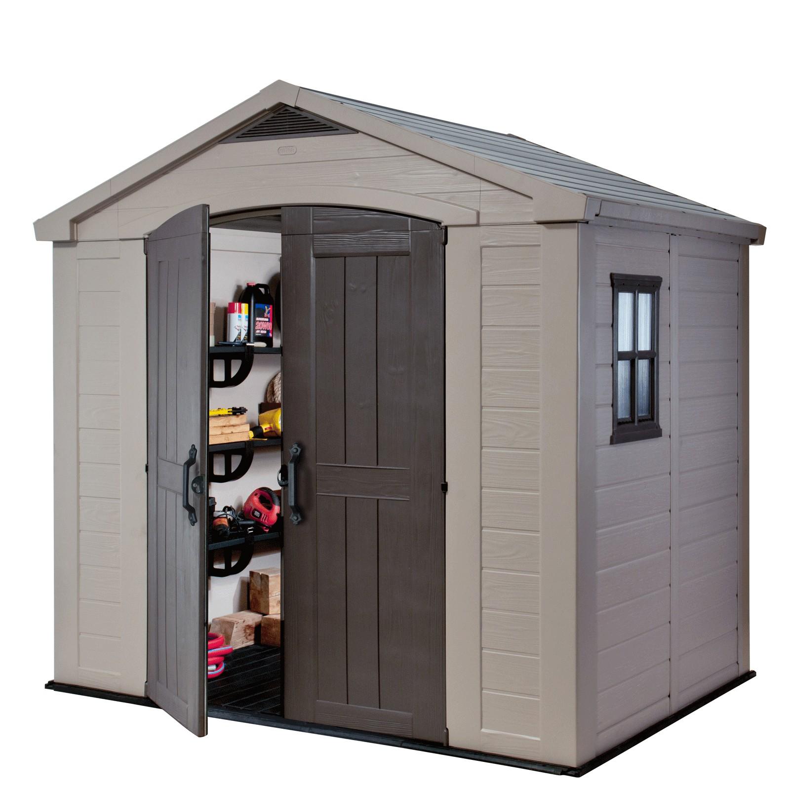 keter kunststoff ger tehaus gartenhaus factor 8x6. Black Bedroom Furniture Sets. Home Design Ideas