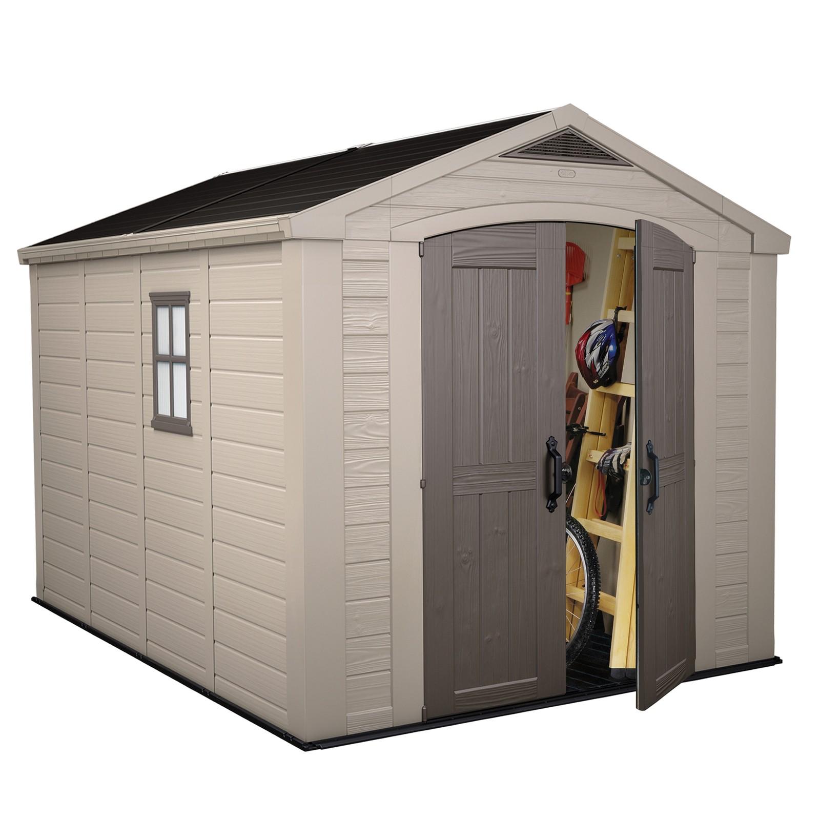 keter kunststoff ger tehaus gartenhaus factor 8x11. Black Bedroom Furniture Sets. Home Design Ideas