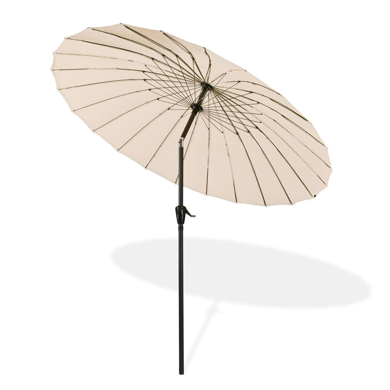 Sonnenschirm gartenschirm schirm kurbelschirm tokio rund 2 for Stahlwandbecken rund 5 m