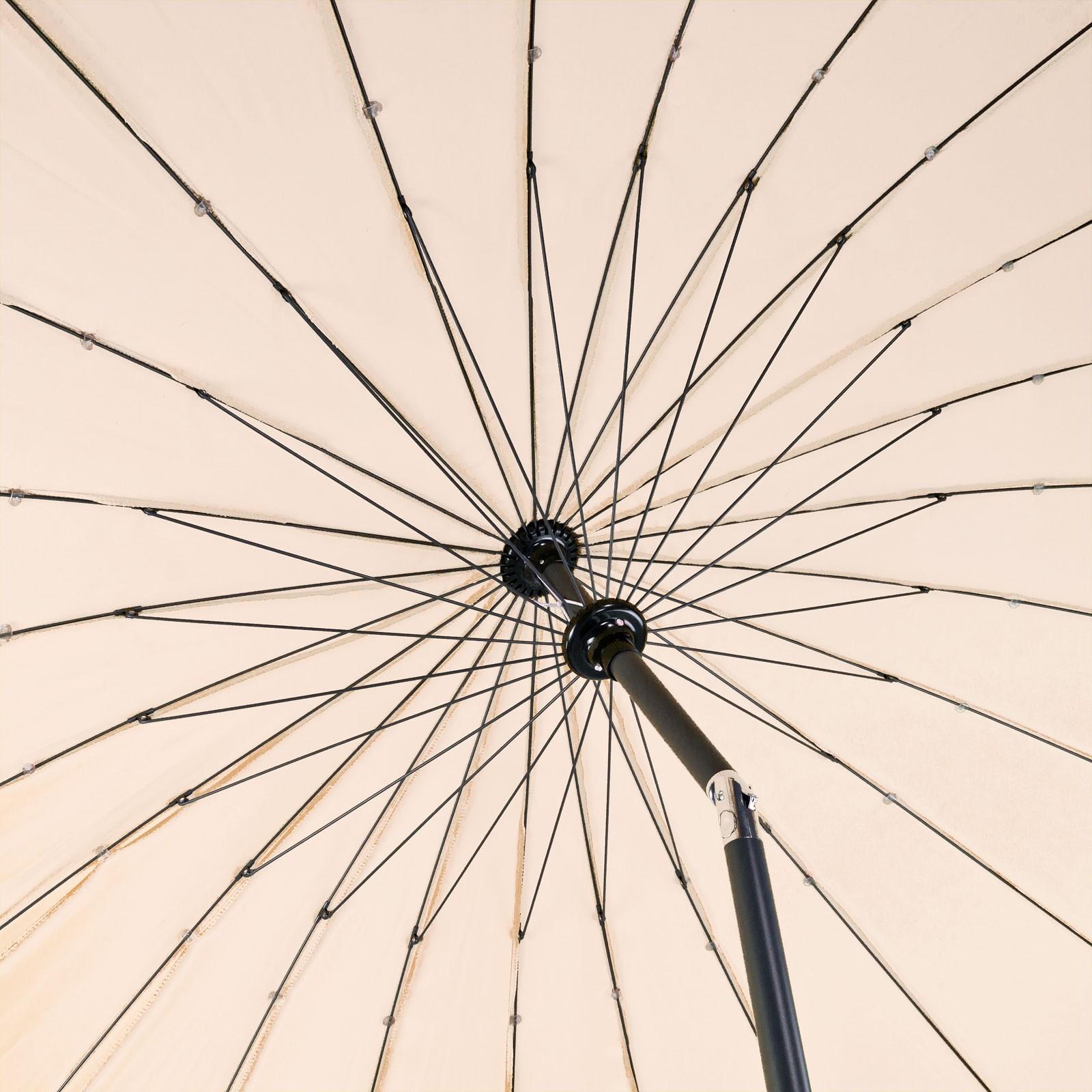 sonnenschirm gartenschirm schirm kurbelschirm tokio rund 2 5 m farbe nach wahl ebay. Black Bedroom Furniture Sets. Home Design Ideas
