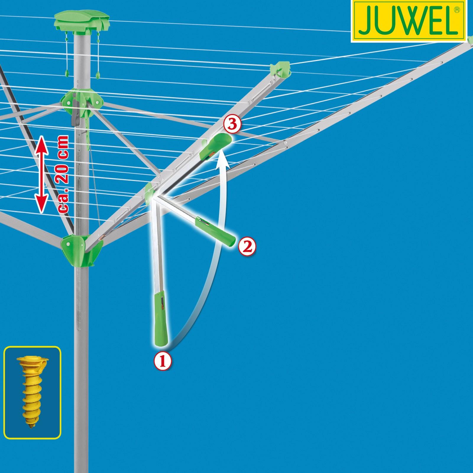 Juwel Wäschespinne Wäschetrockner NOVAPLUS 600 LIFT, Wäschetrockner, Wäscheleine, Wäschespinne, Wäscheständer, ,
