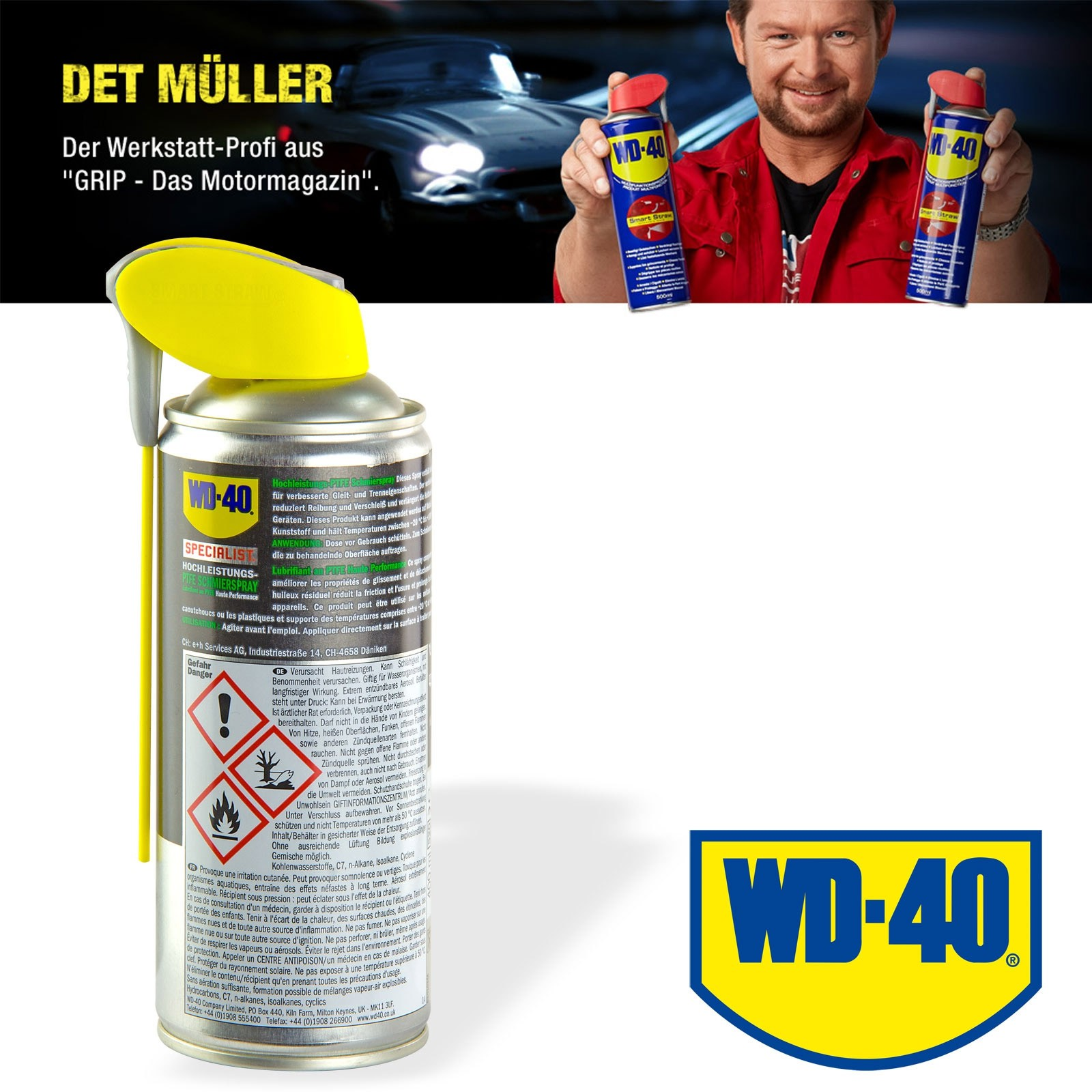 wd 40 ptfe spray gleitmittel schmiermittel 400 ml. Black Bedroom Furniture Sets. Home Design Ideas